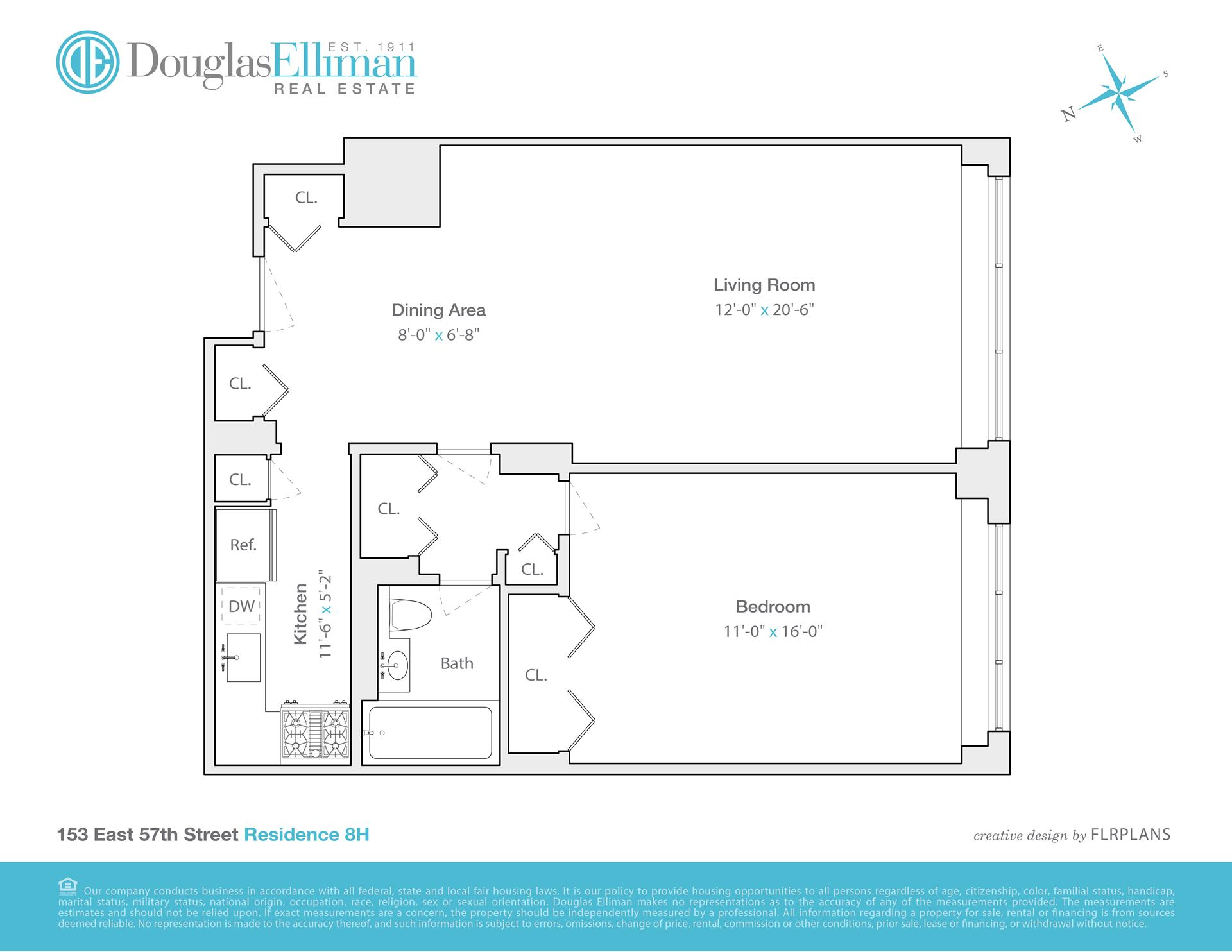 Floor plan of GOTHAM TOWNE HOUSE, 153 East 57th St, 8H - Midtown, New York