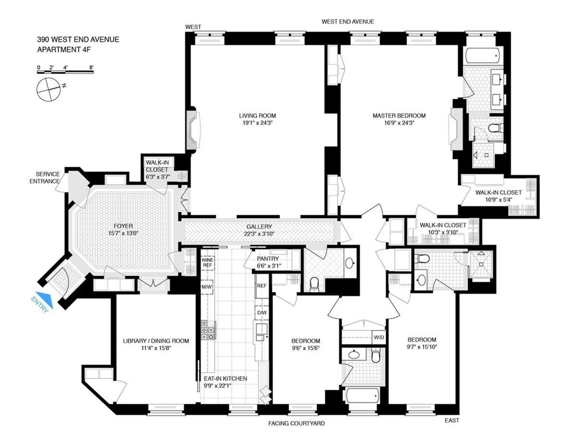 Floor plan of THE APTHORP, 2211 BROADWAY, 4FR - Upper West Side, New York
