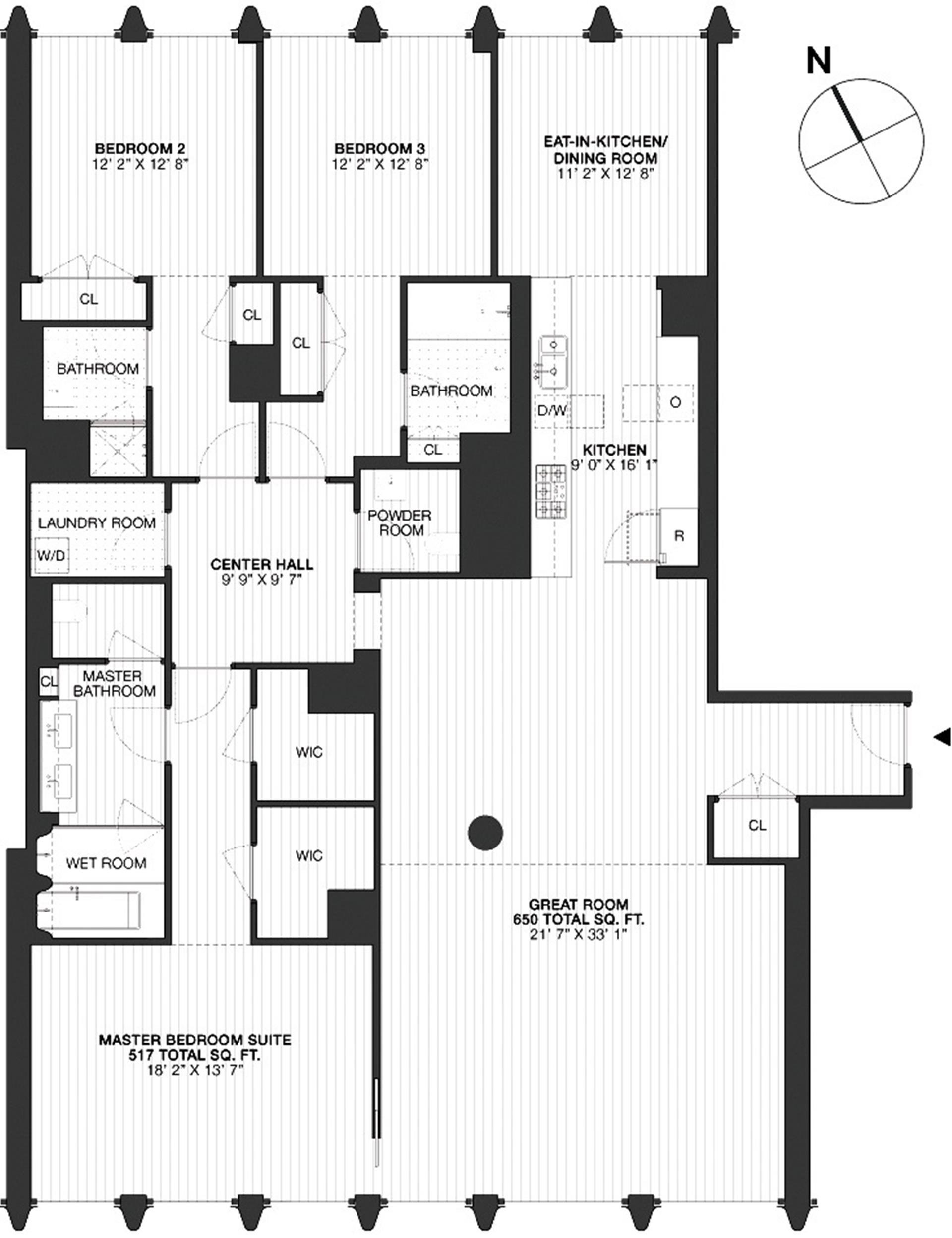 Floor plan of 40 Bond St, 5A - NoHo, New York