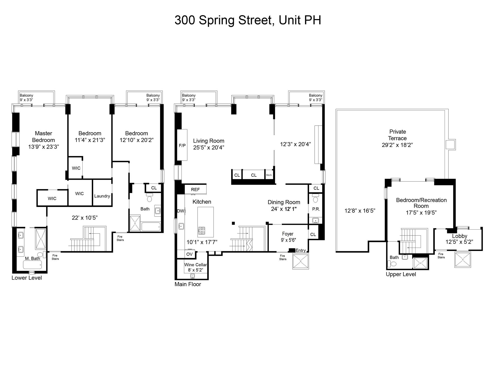 Floor plan of 300 Spring St, PHA - SoHo - Nolita, New York