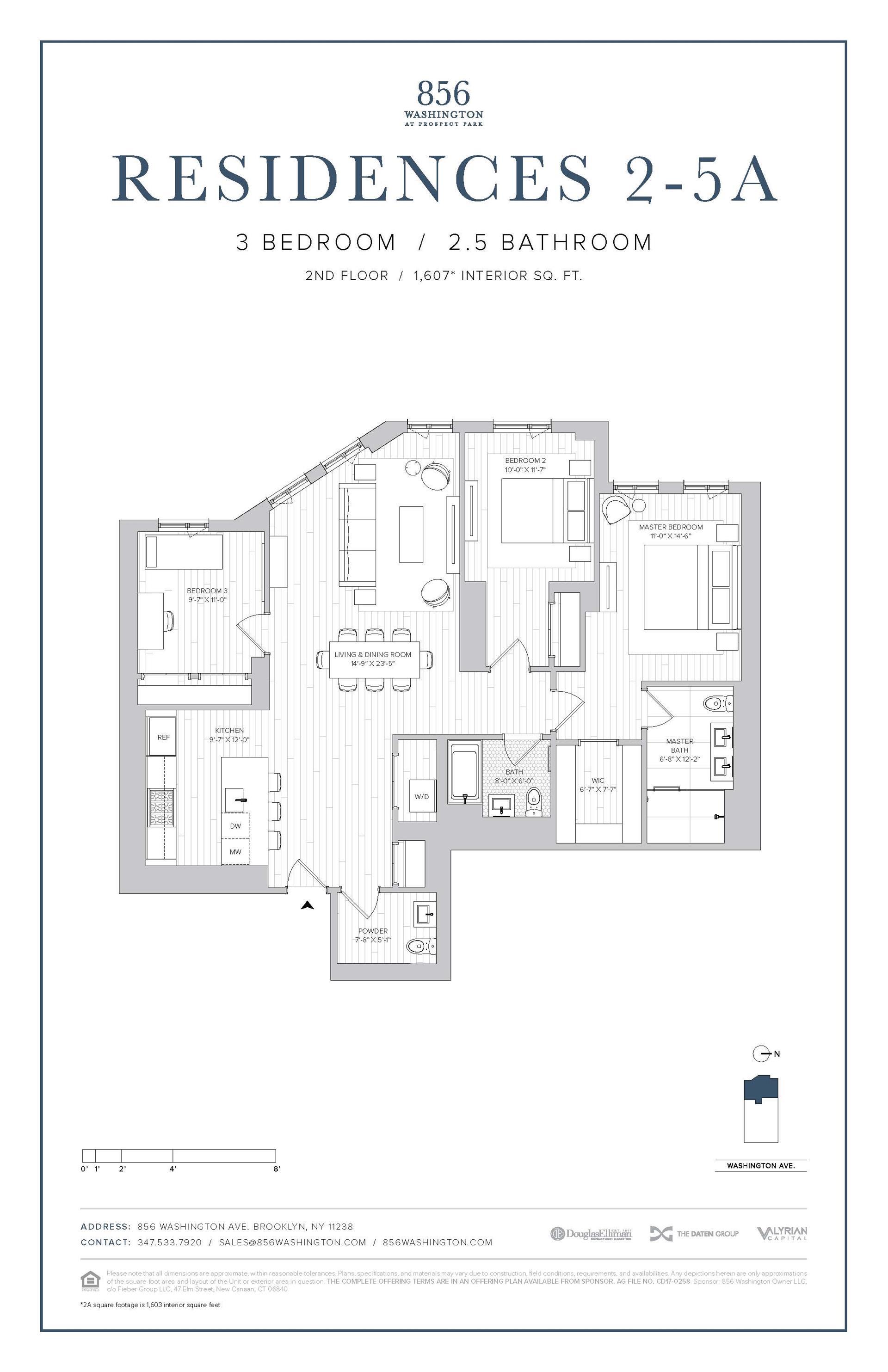 Floor plan of 856 Washington Avenue, 4A - Prospect Heights, New York