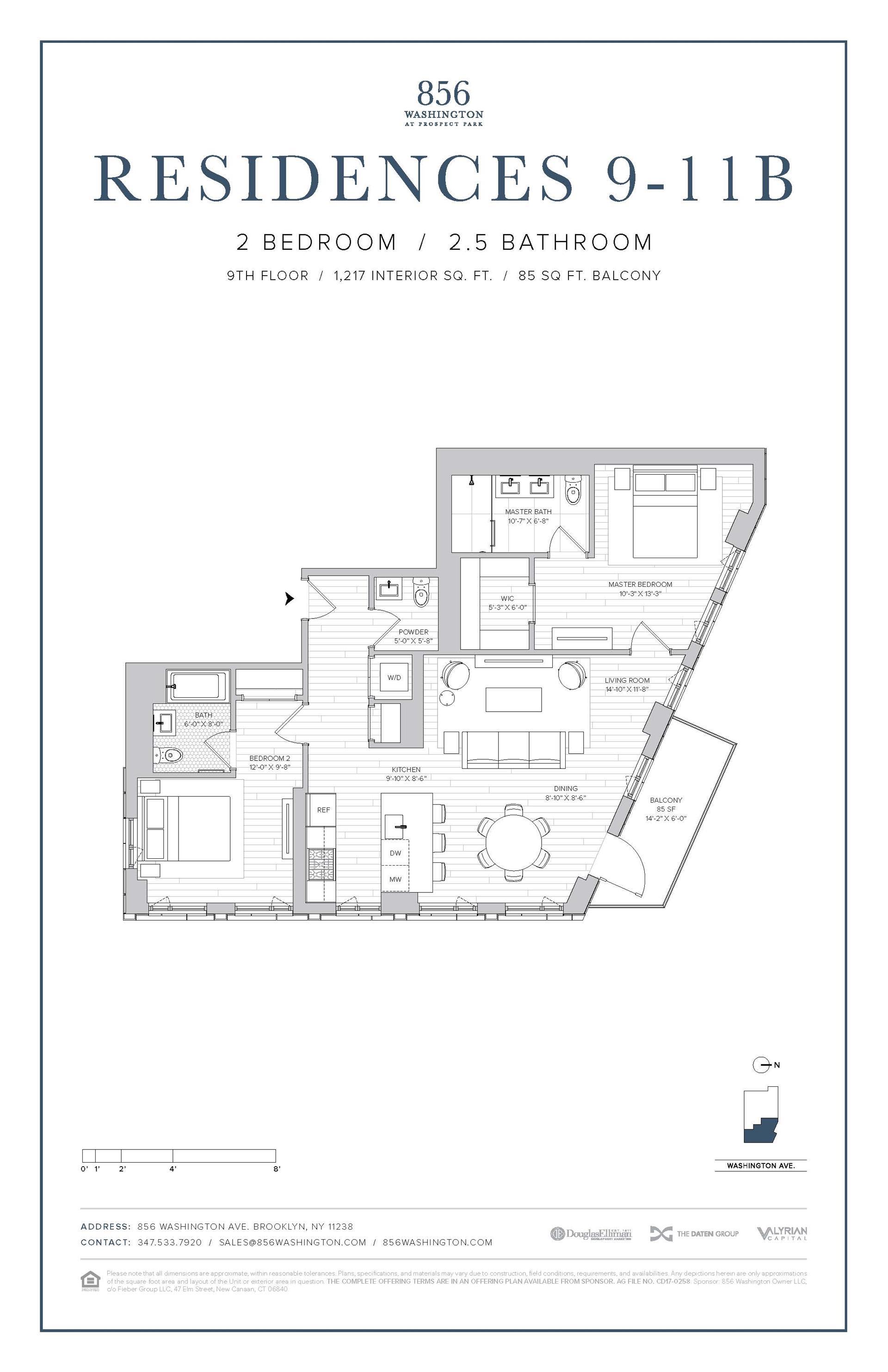 Floor plan of 856 Washington Avenue, 10B - Prospect Heights, New York