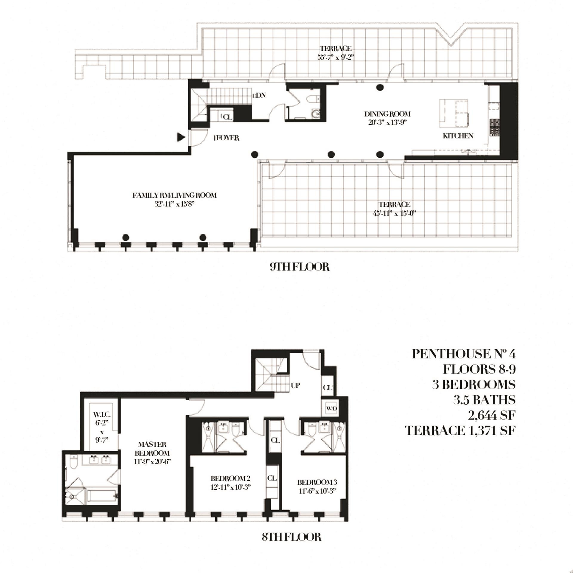 Floor plan of THE RENWICK, 15 Renwick St, PH4 - SoHo - Nolita, New York