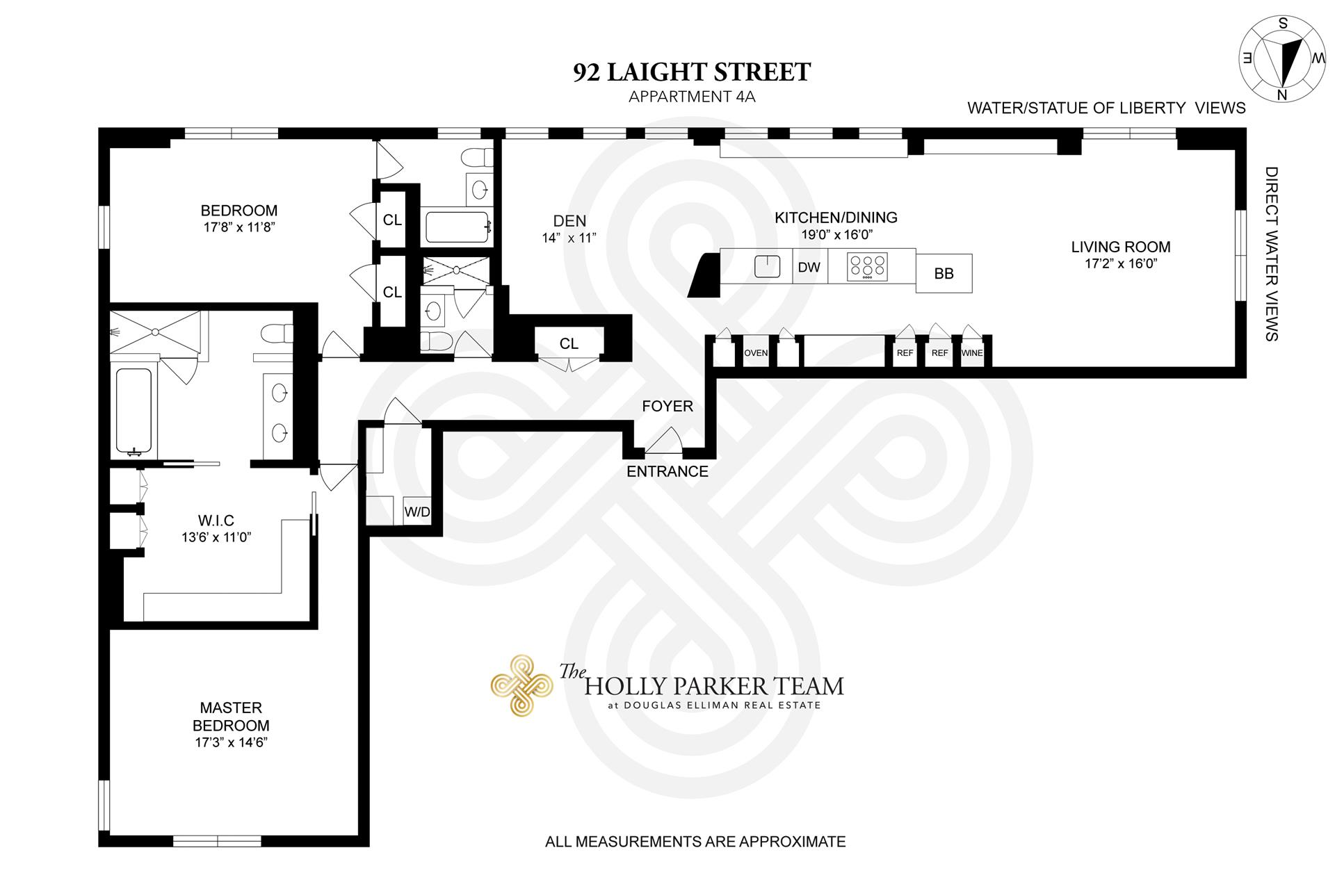 Floor plan of RIVER LOFTS, 92 Laight St, 4A - TriBeCa, New York