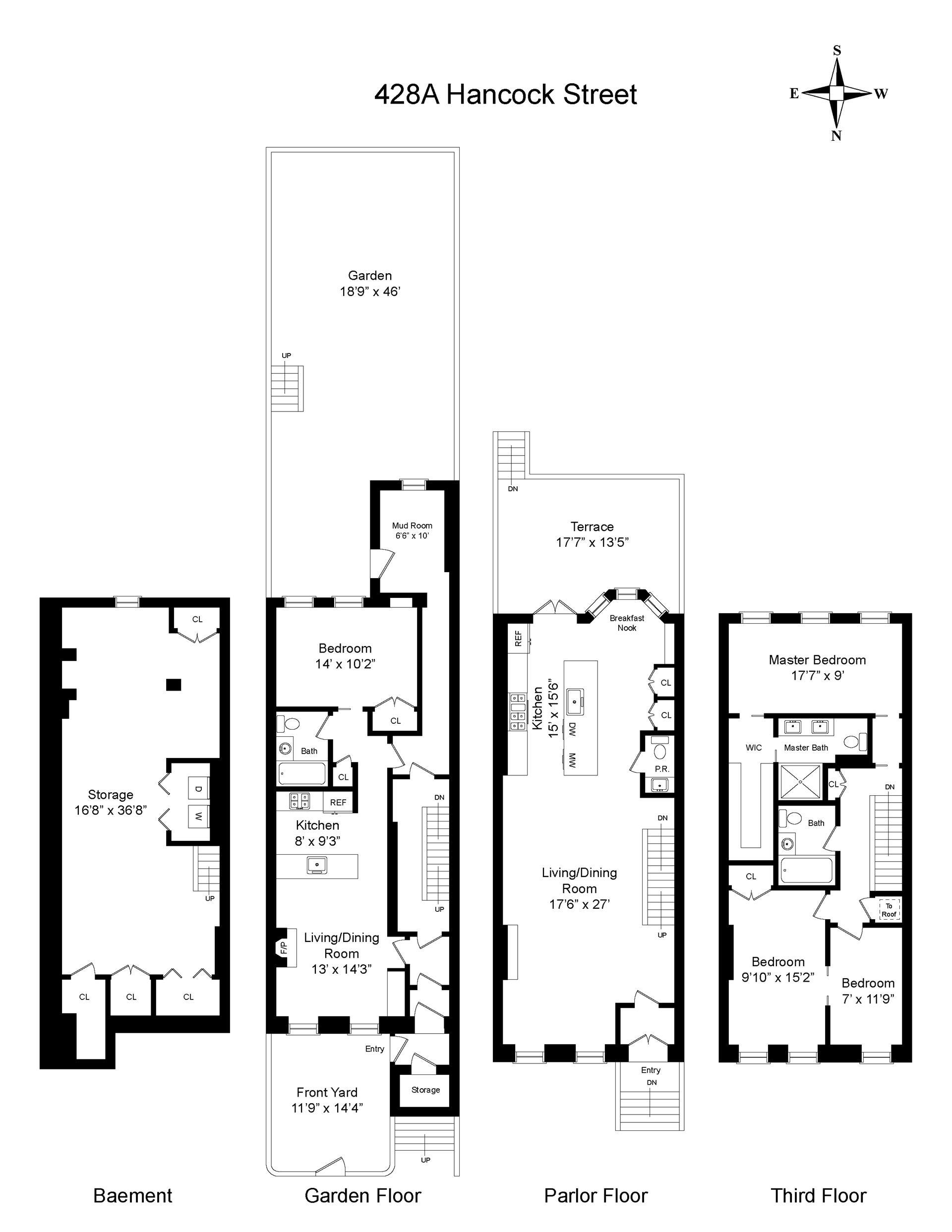 Floor plan of 428A Hancock St - Bedford - Stuyvesant, New York