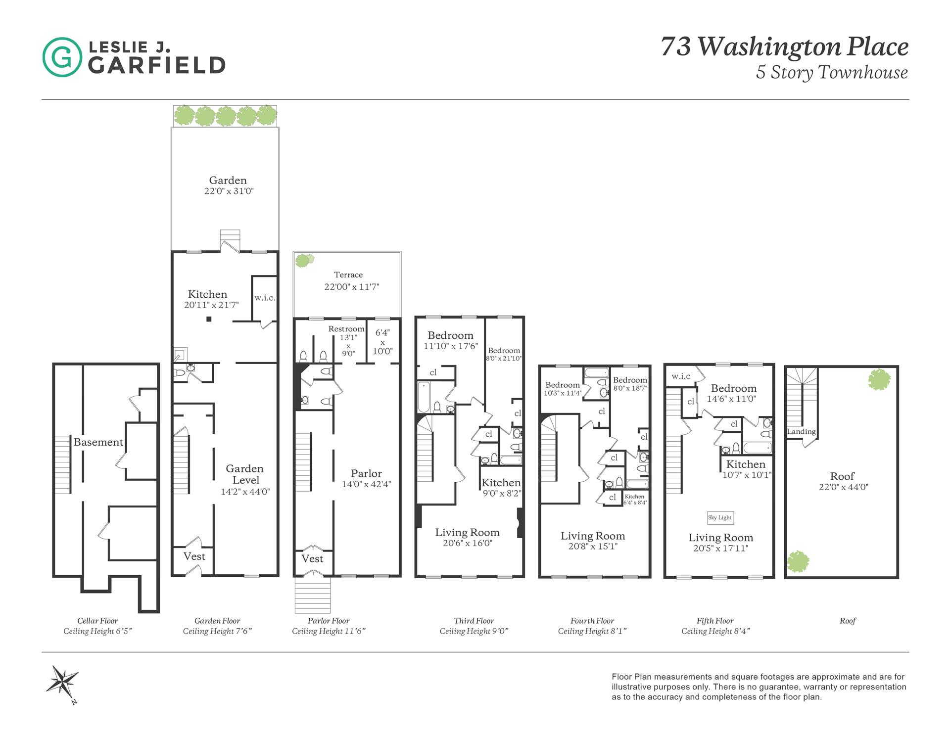 Floor plan of 73 Washington Pl - Greenwich Village, New York