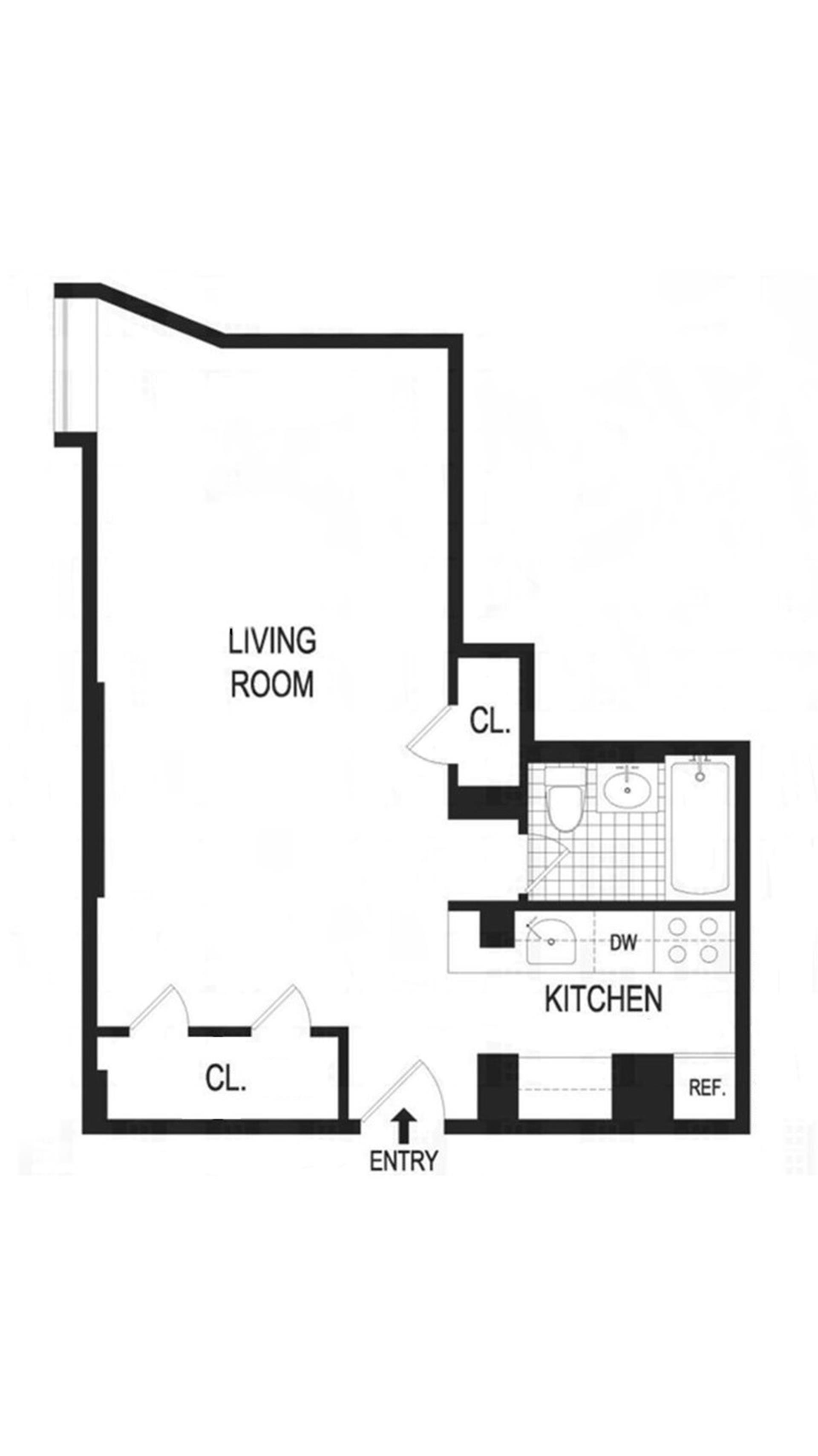 Floor plan of 720 Greenwich St, 3M - West Village - Meatpacking District, New York