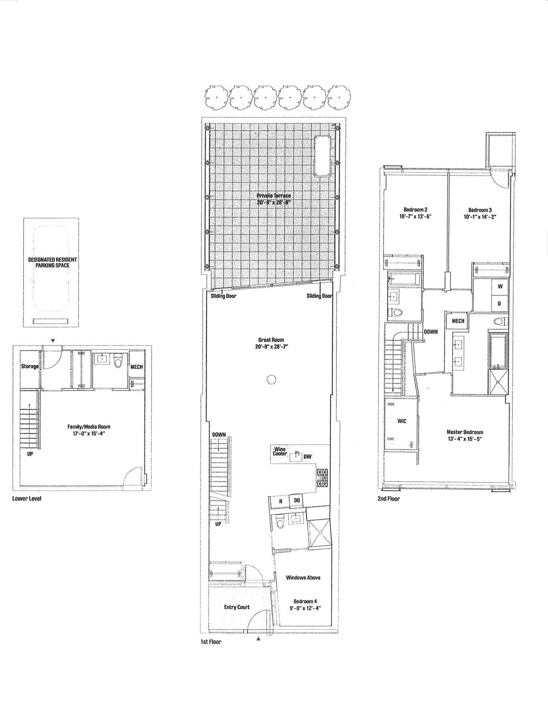Floor plan of The Dillon, 425 West 53rd St, TWNHSE409 - Clinton, New York