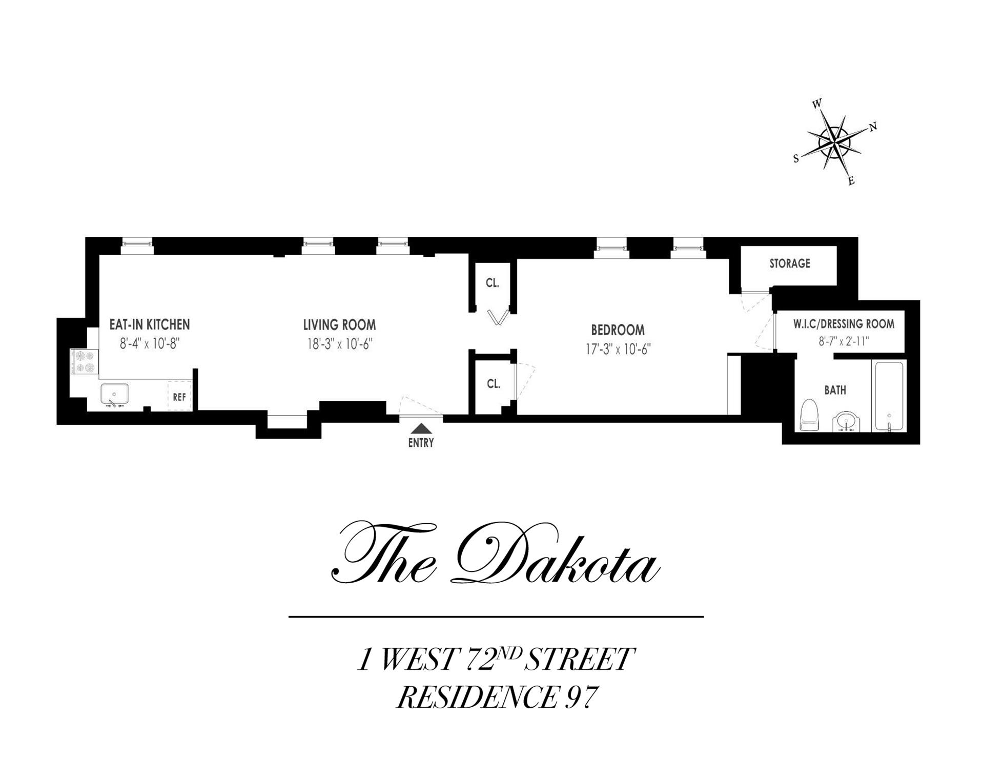 Floor plan of 1 West 72nd St, 97 - Upper West Side, New York