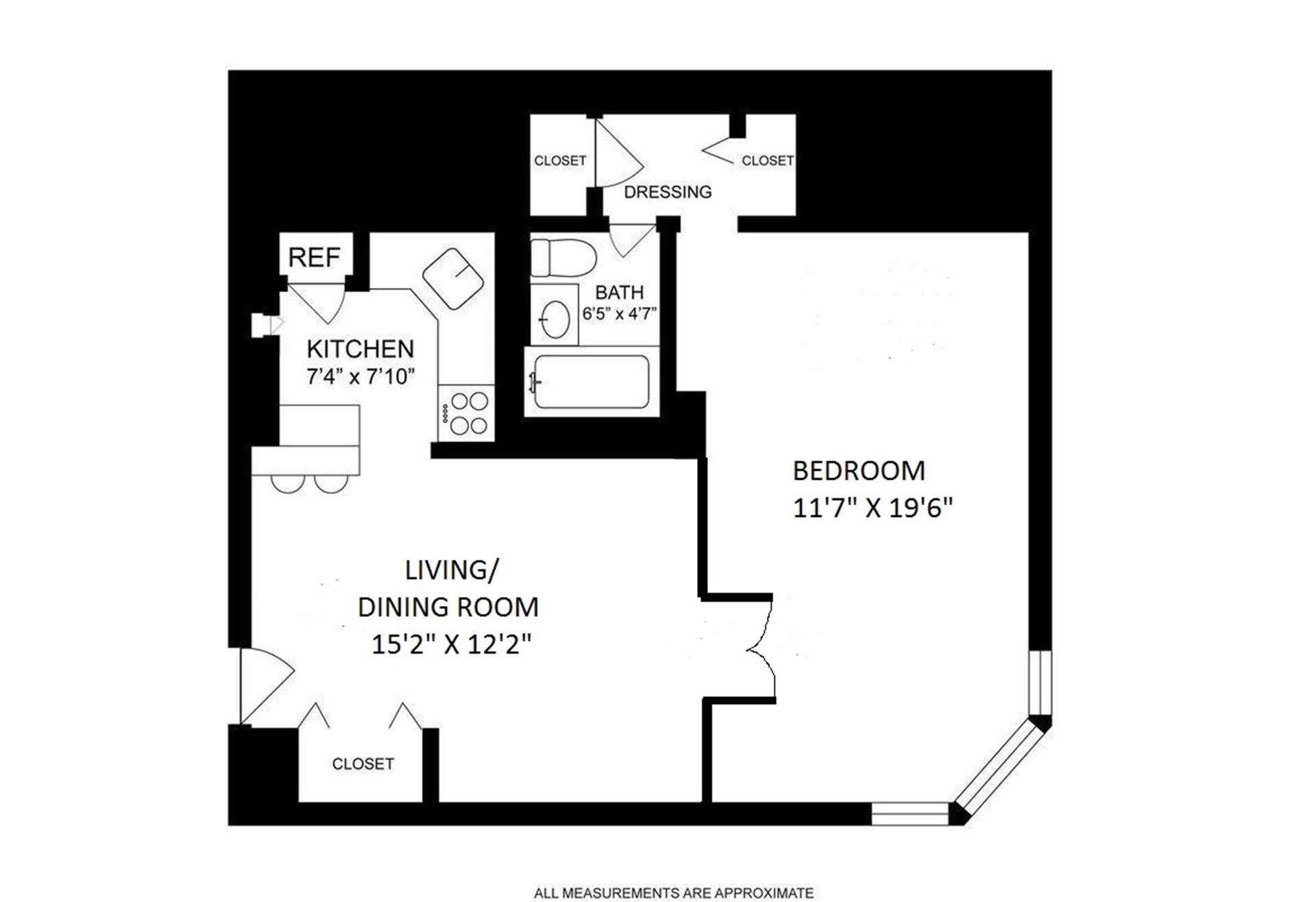 Floor plan of 145 East 15th St, 2N - Gramercy - Union Square, New York