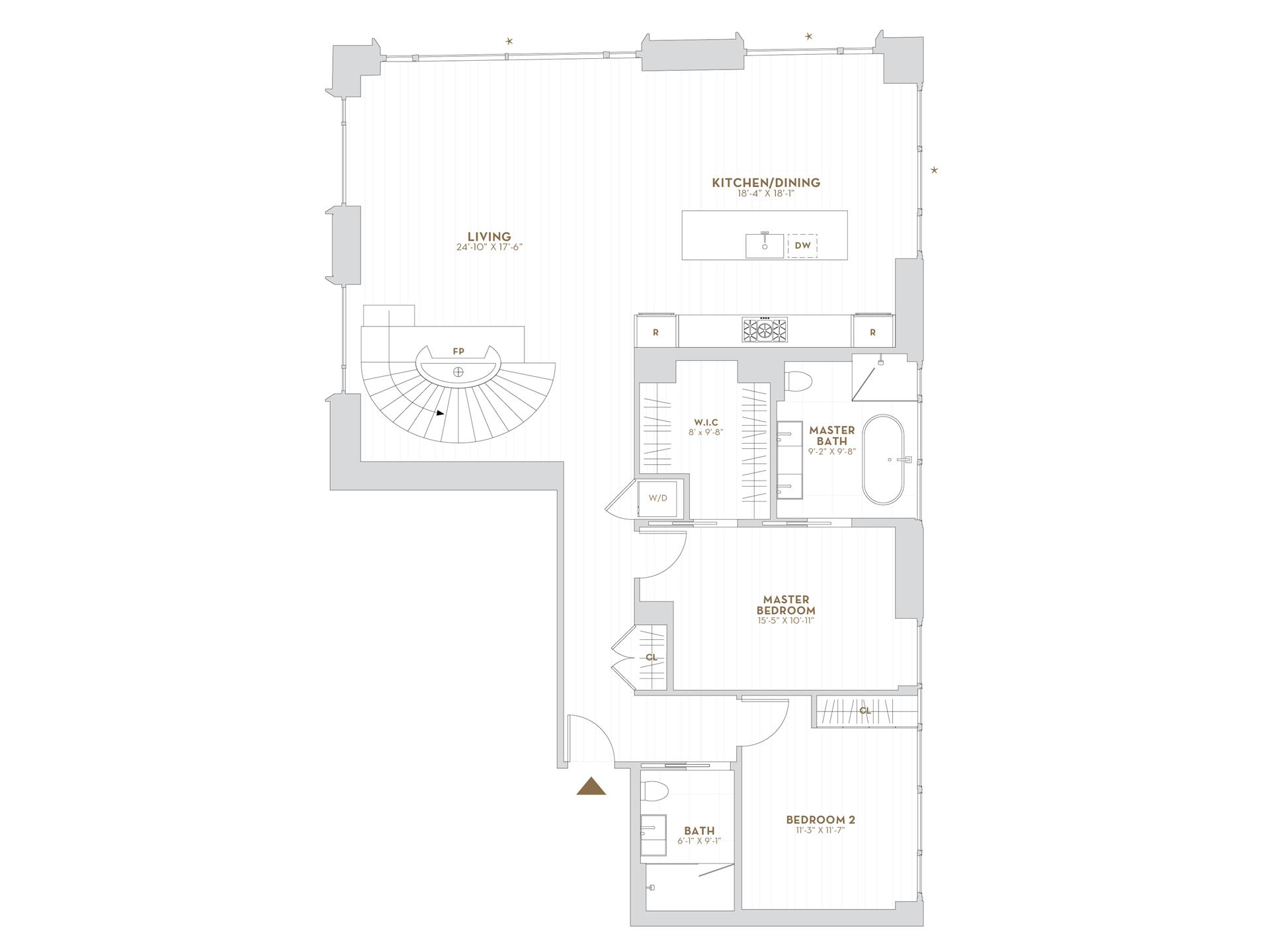 Floor plan of 75 Kenmare Street, PHC - NoHo, New York