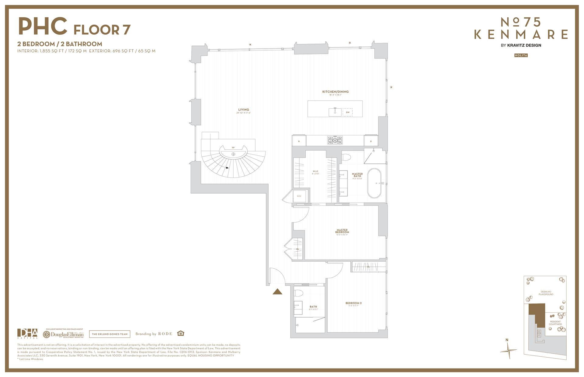 Floor plan of 75 Kenmare St, PHC - NoHo, New York