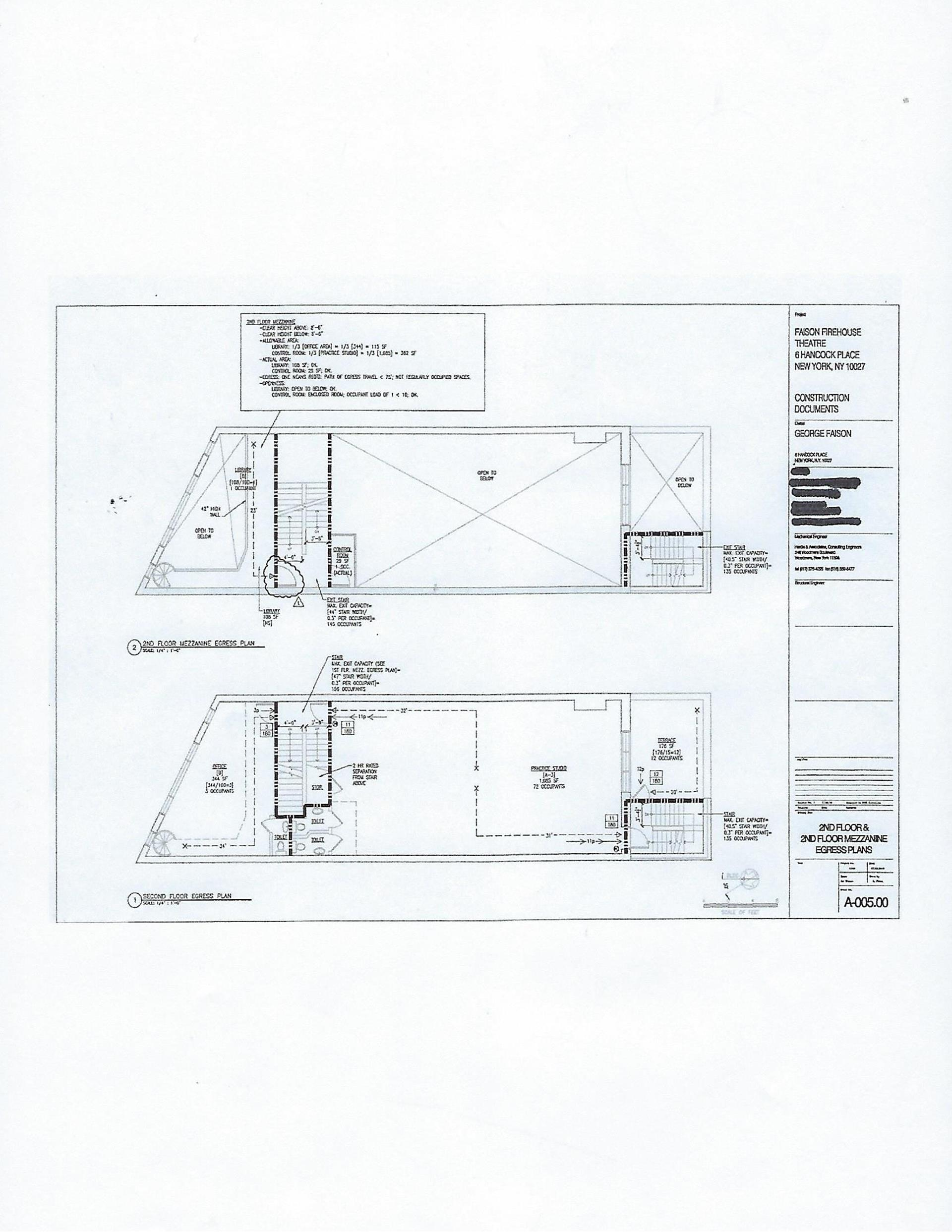 Floor plan of 4-6 Hancock Pl - Harlem, New York