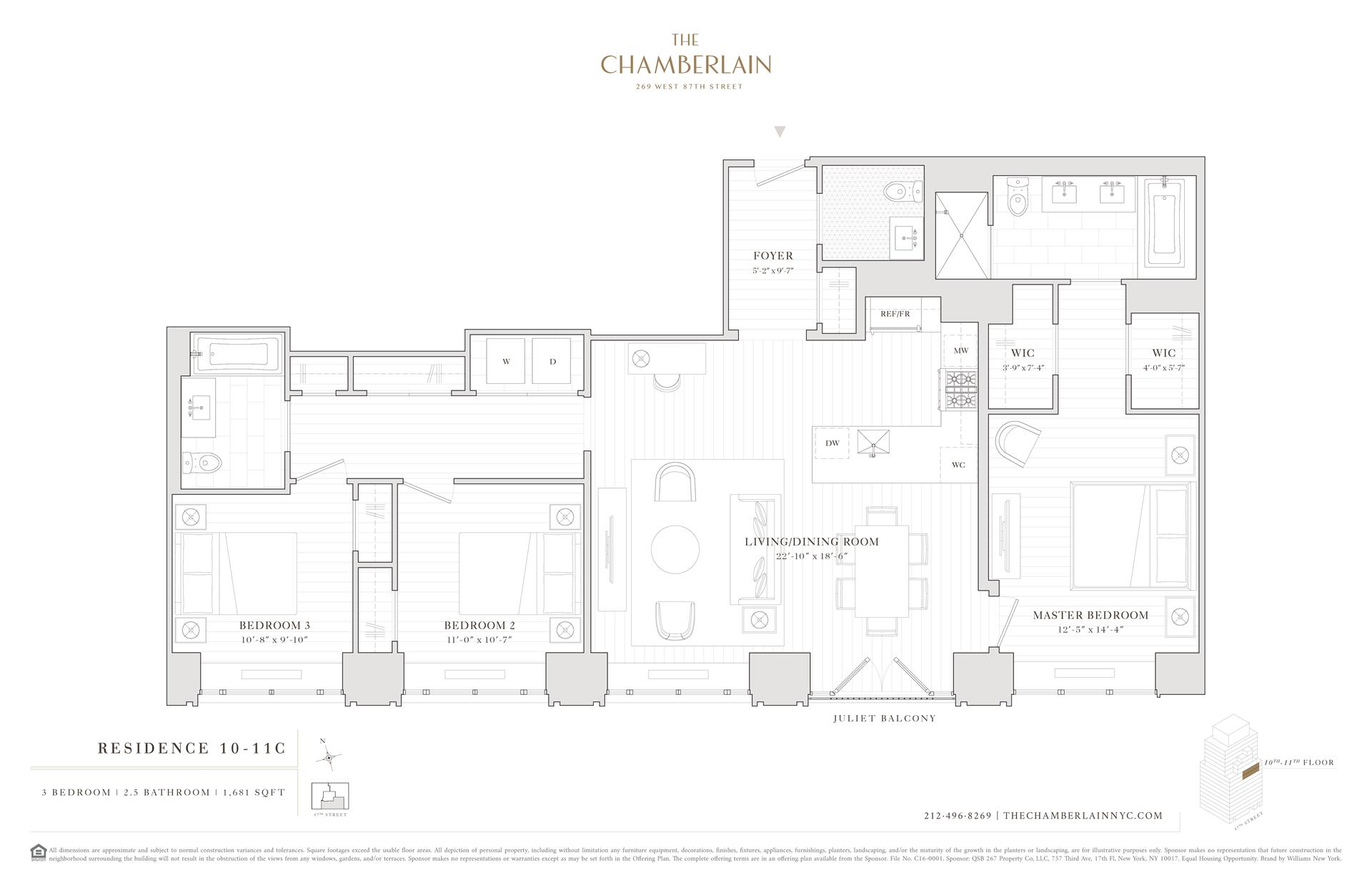 Floor plan of 269 West 87th St, 11C - Upper West Side, New York