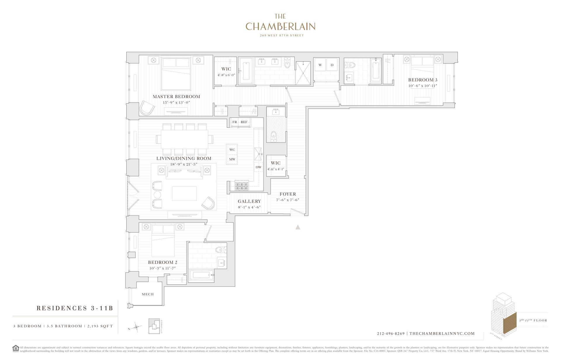 Floor plan of 269 West 87th St, 3B - Upper West Side, New York