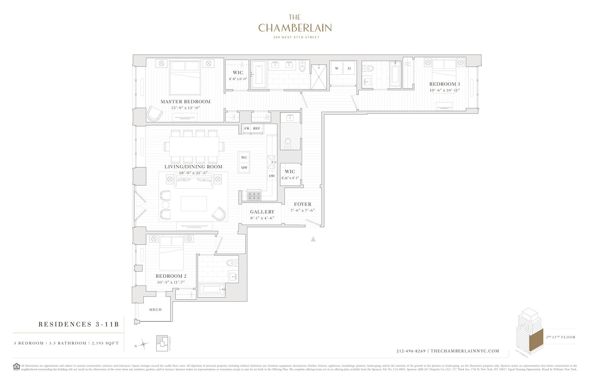 Floor plan of 269 West 87th St, 7B - Upper West Side, New York