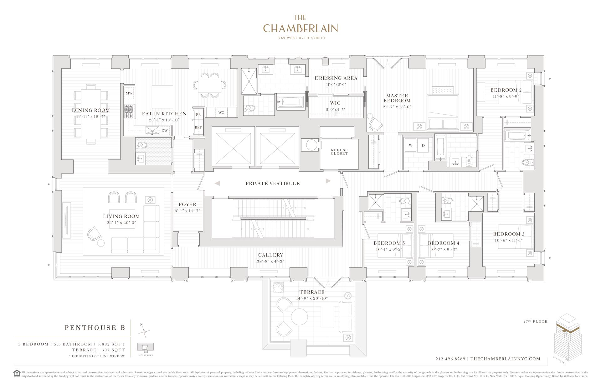 Floor plan of 269 West 87th St, PHB - Upper West Side, New York
