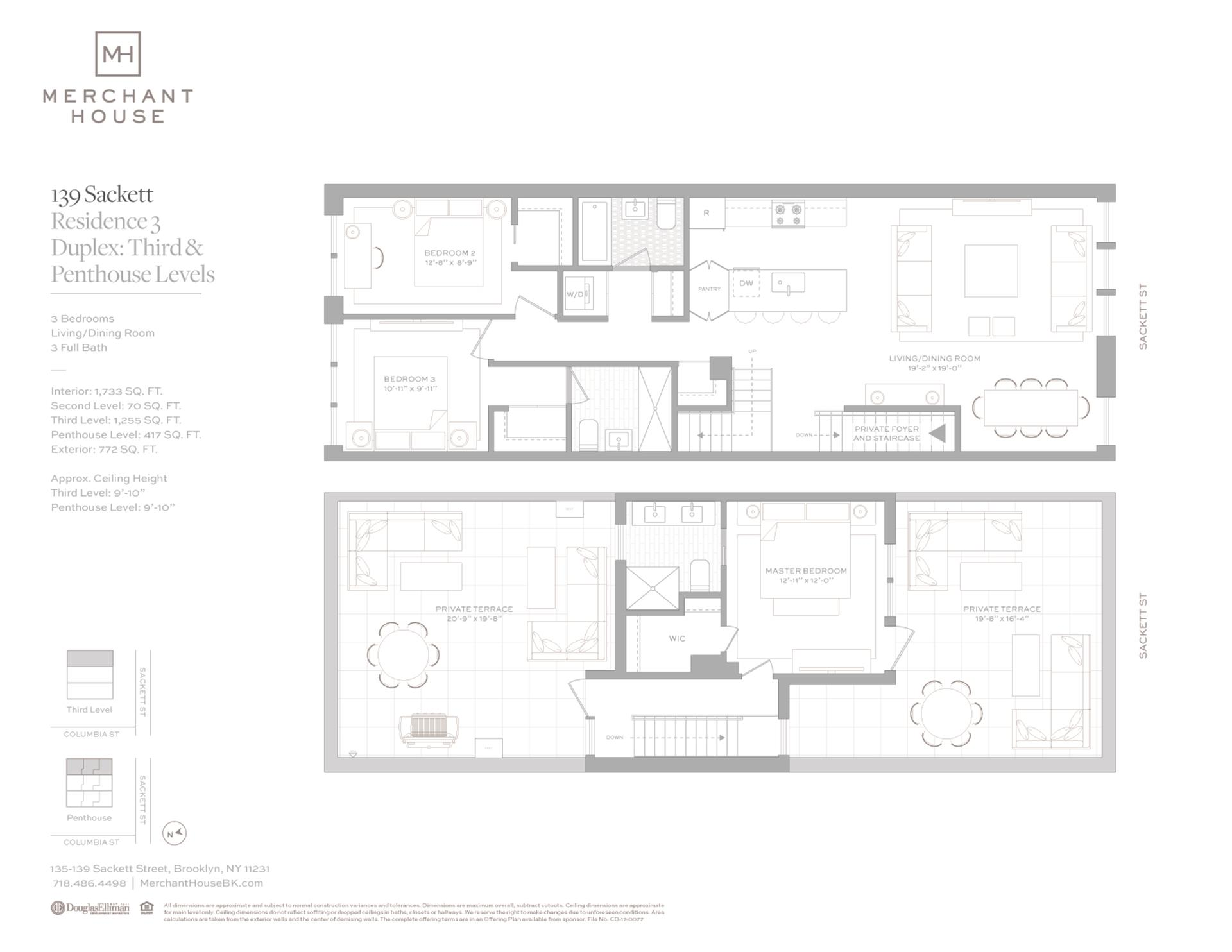 Floor plan of 135-139 Sackett St, 139/3 - Columbia Street Waterfront District, New York