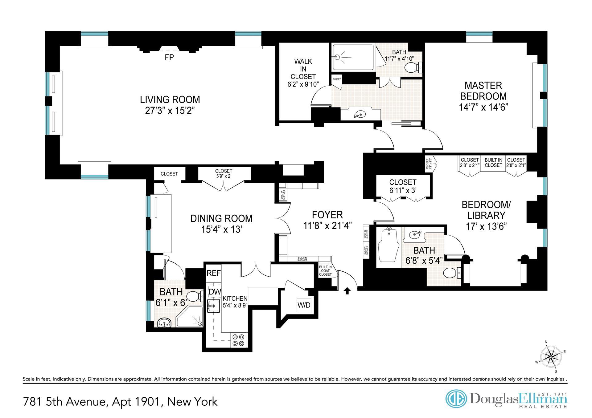 Floor plan of SHERRY NETHERLAND, 781 Fifth Avenue, 1901 - Upper East Side, New York