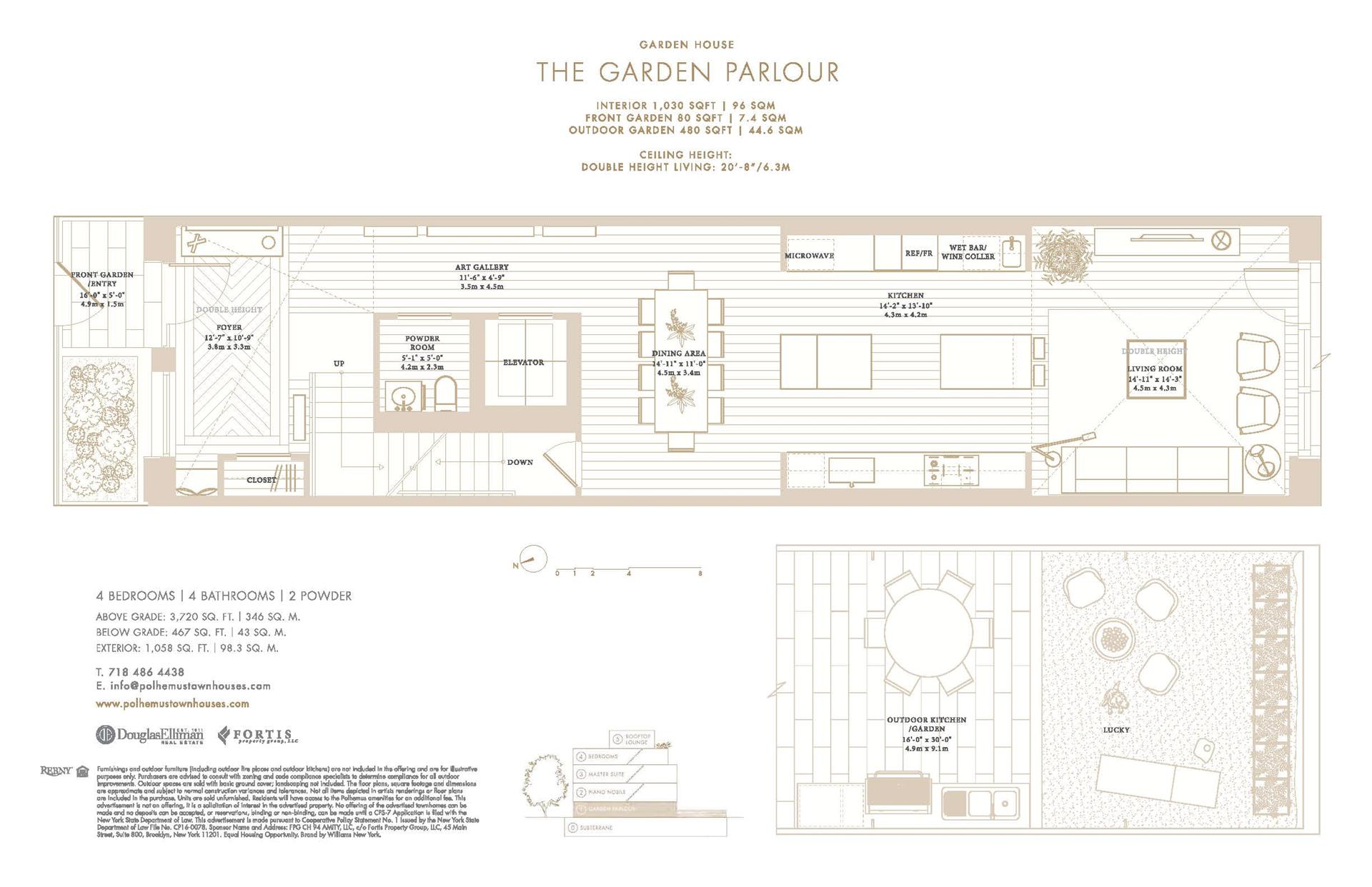 Floor plan of Polhemus, 92 Amity St - Cobble Hill, New York