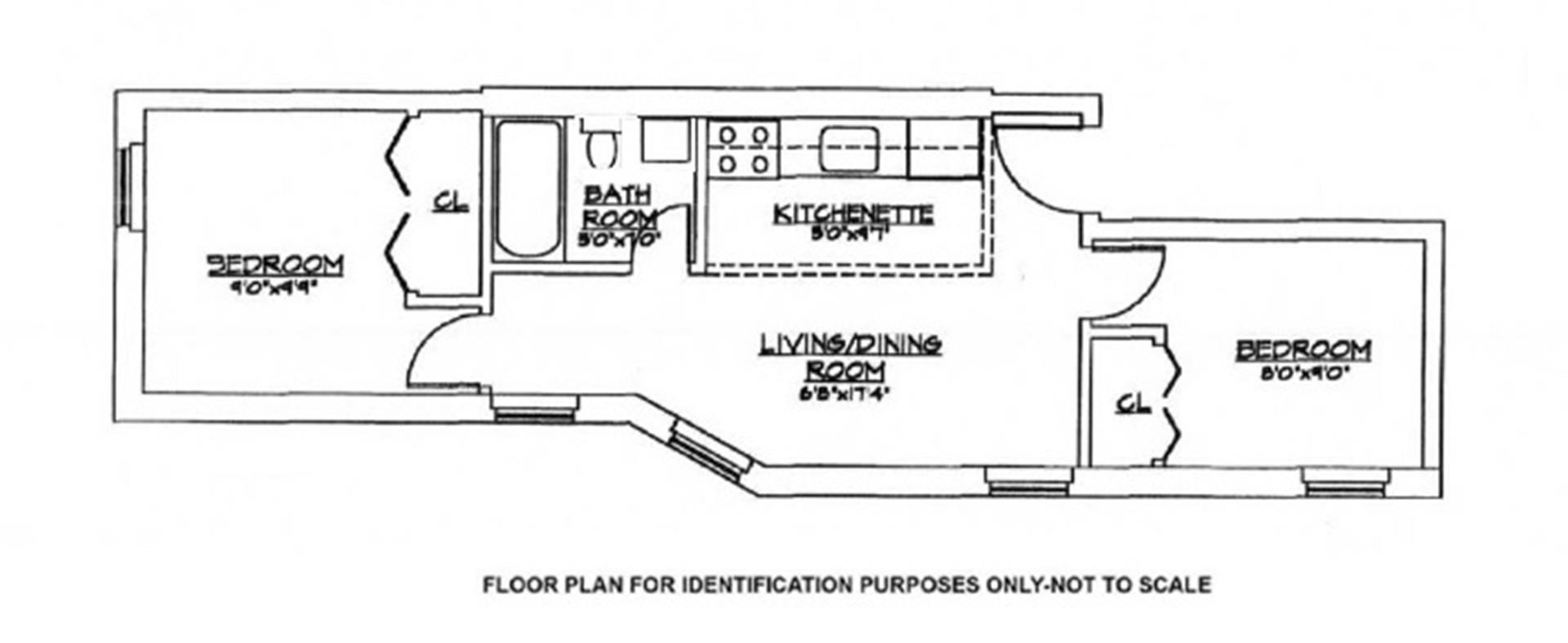 Floor plan of 1062 Bergen St, 3C - Crown Heights, New York