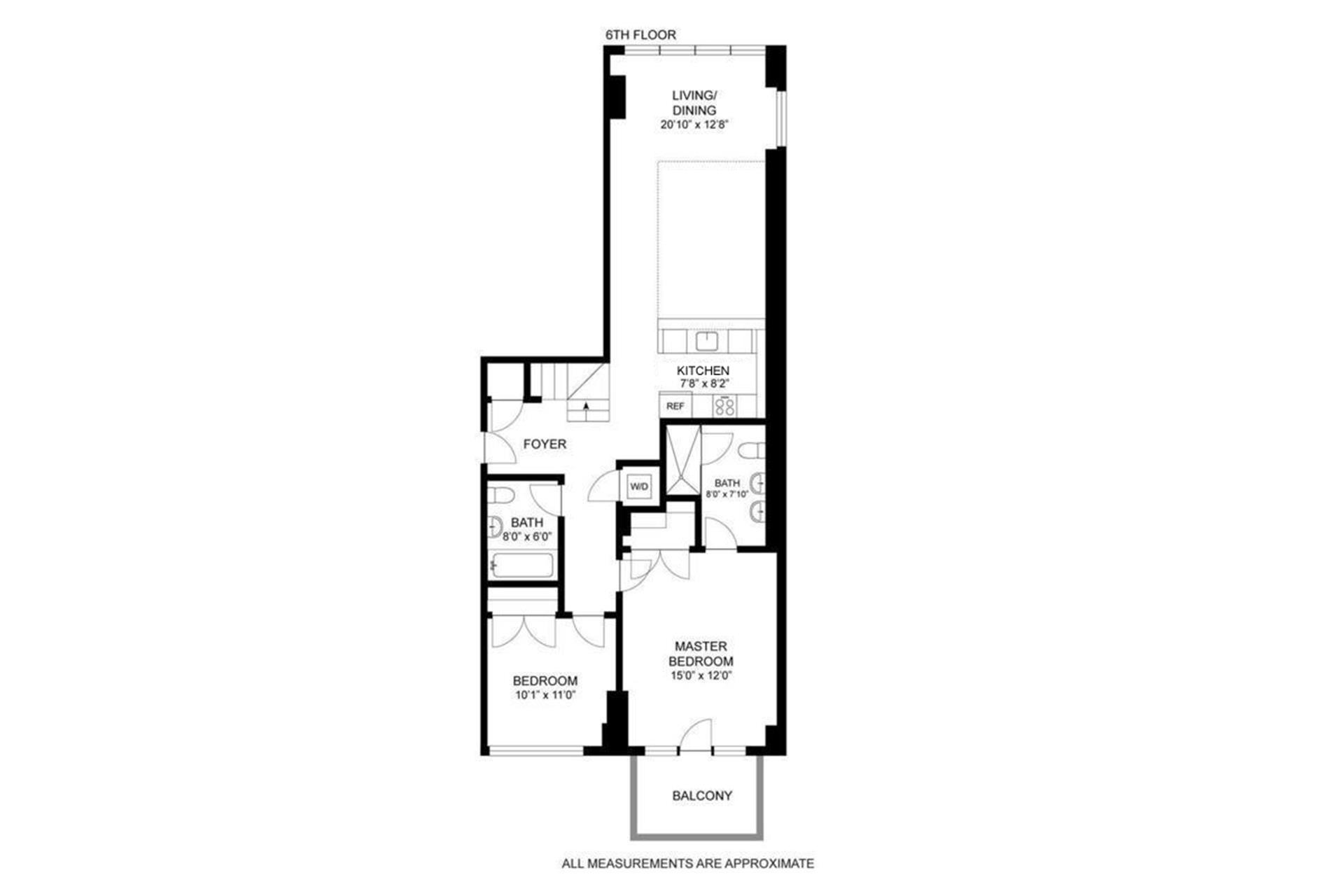 Floor plan of WAREHOUSE ELEVEN, 214 North 11th St, 6T - Williamsburg, New York