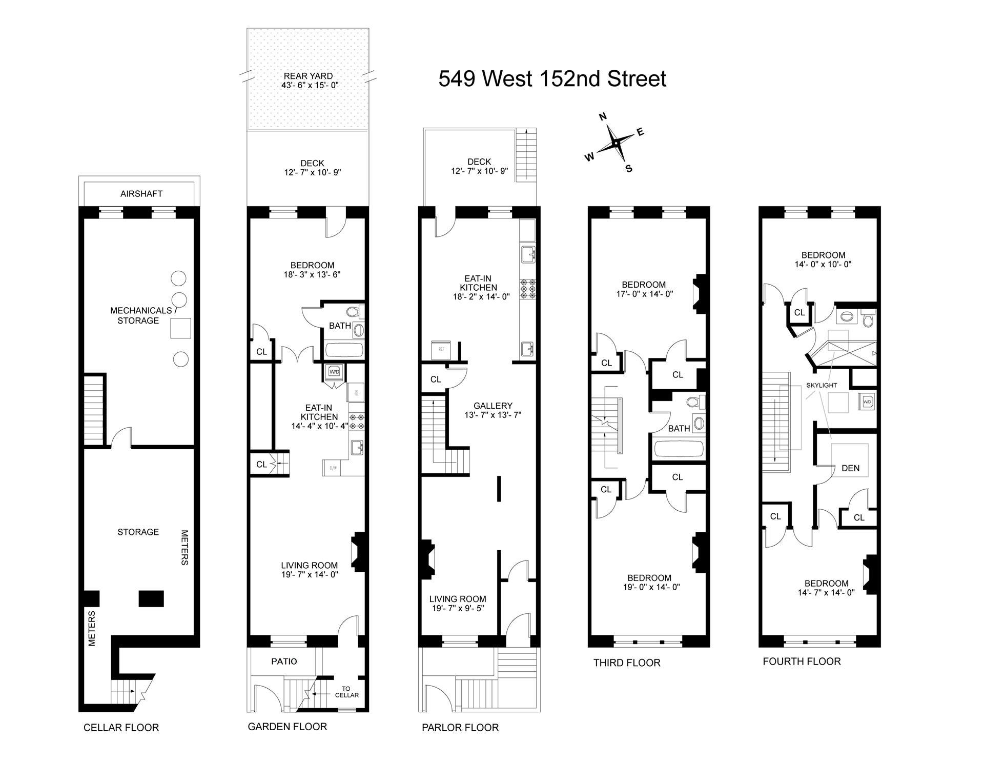 Floor plan of 549 West 152nd St - Hamilton Heights, New York