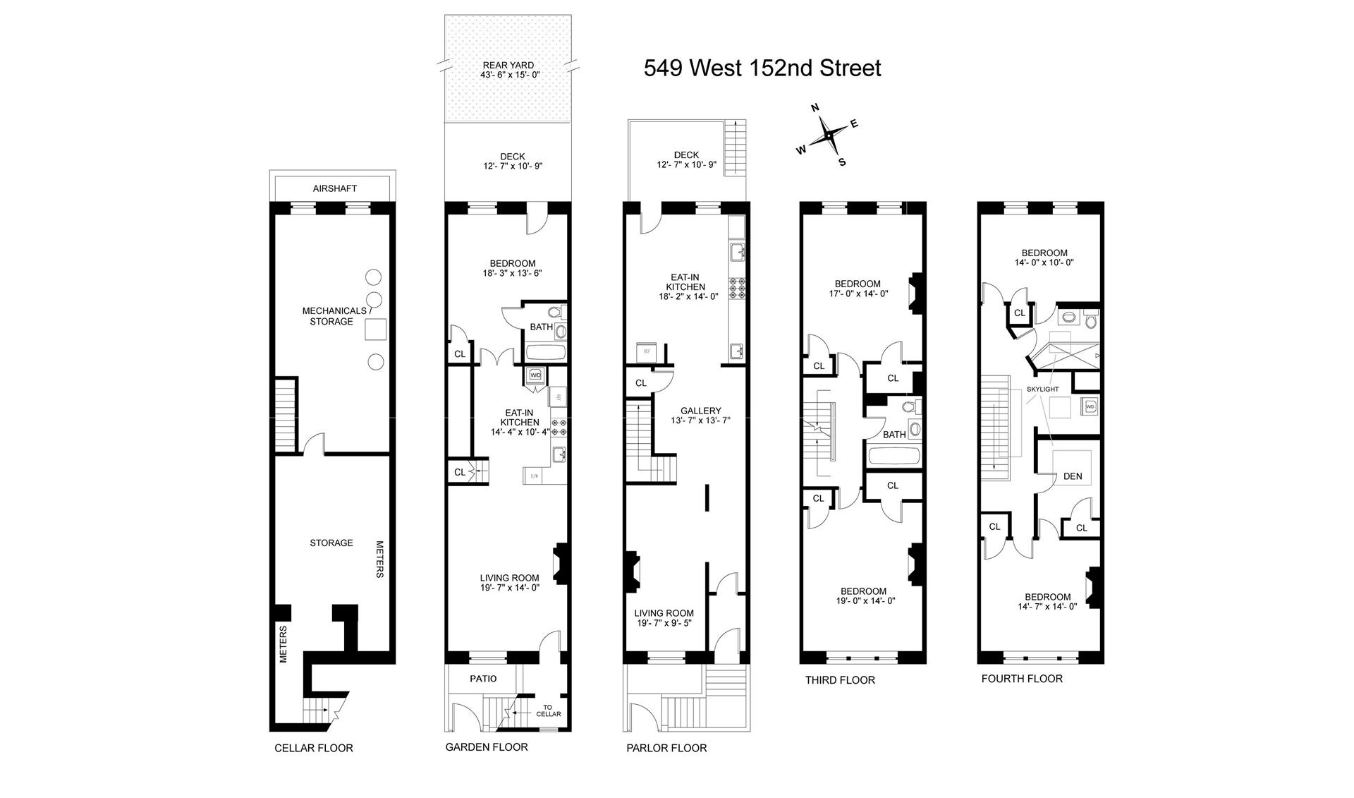 Floor plan of Hamilton Delights, 549 West 152nd St - Hamilton Heights, New York