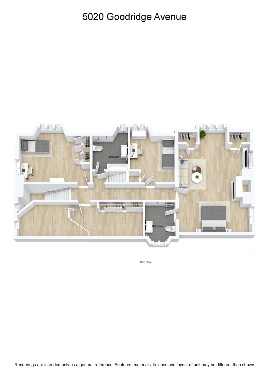Floor plan of 5020 Goodridge Avenue - Fieldston, New York