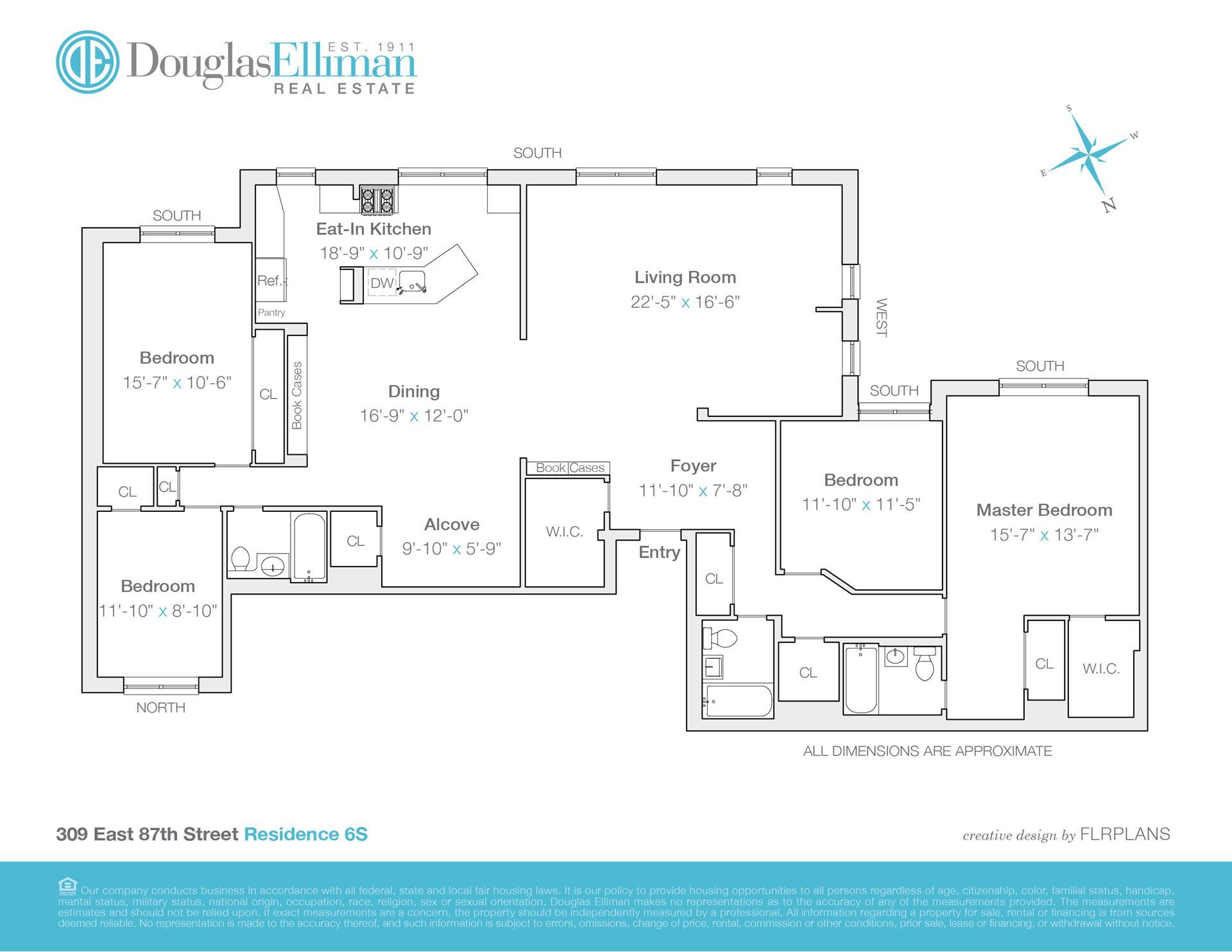 Floor plan of 309 East 87th St, 6PRS - Upper East Side, New York