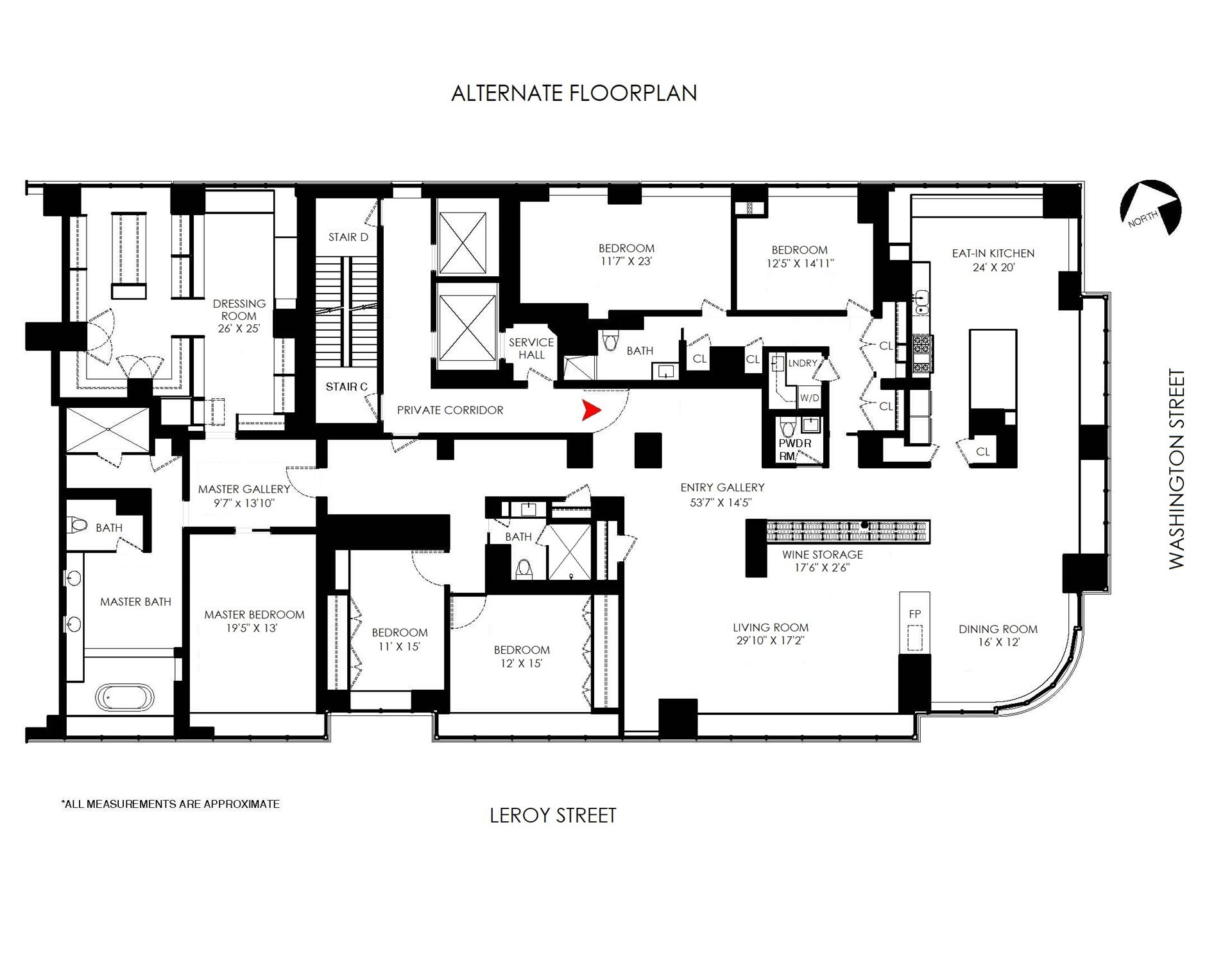 Floor plan of 1 Morton Square, PH15 - West Village - Meatpacking District, New York