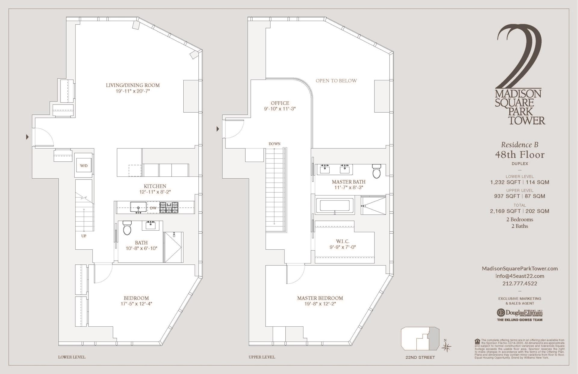 Floor plan of Madison Square Park Tower, 45 East 22nd St, 48B - Flatiron District, New York