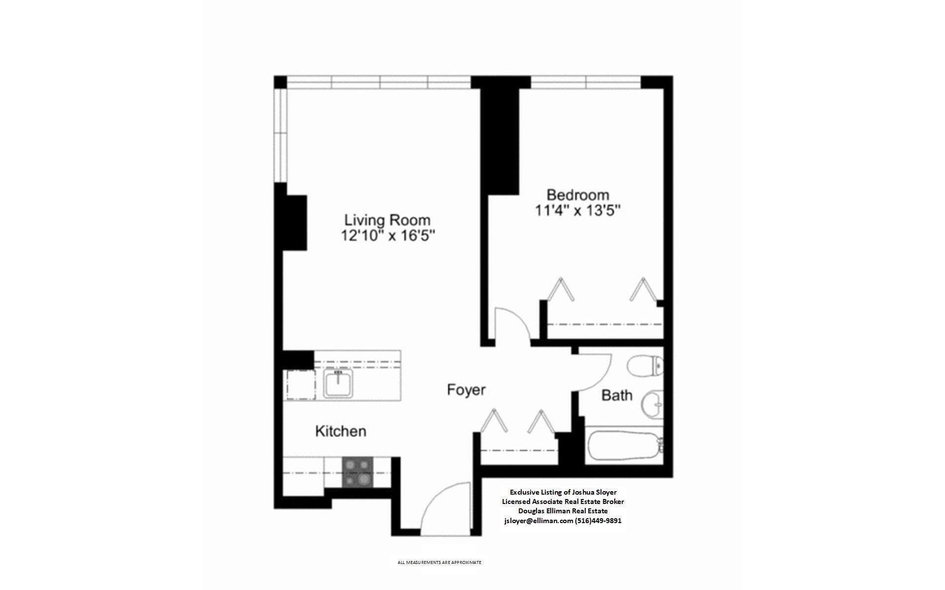 Floor plan of 350 West 42nd St, 26C - Clinton, New York