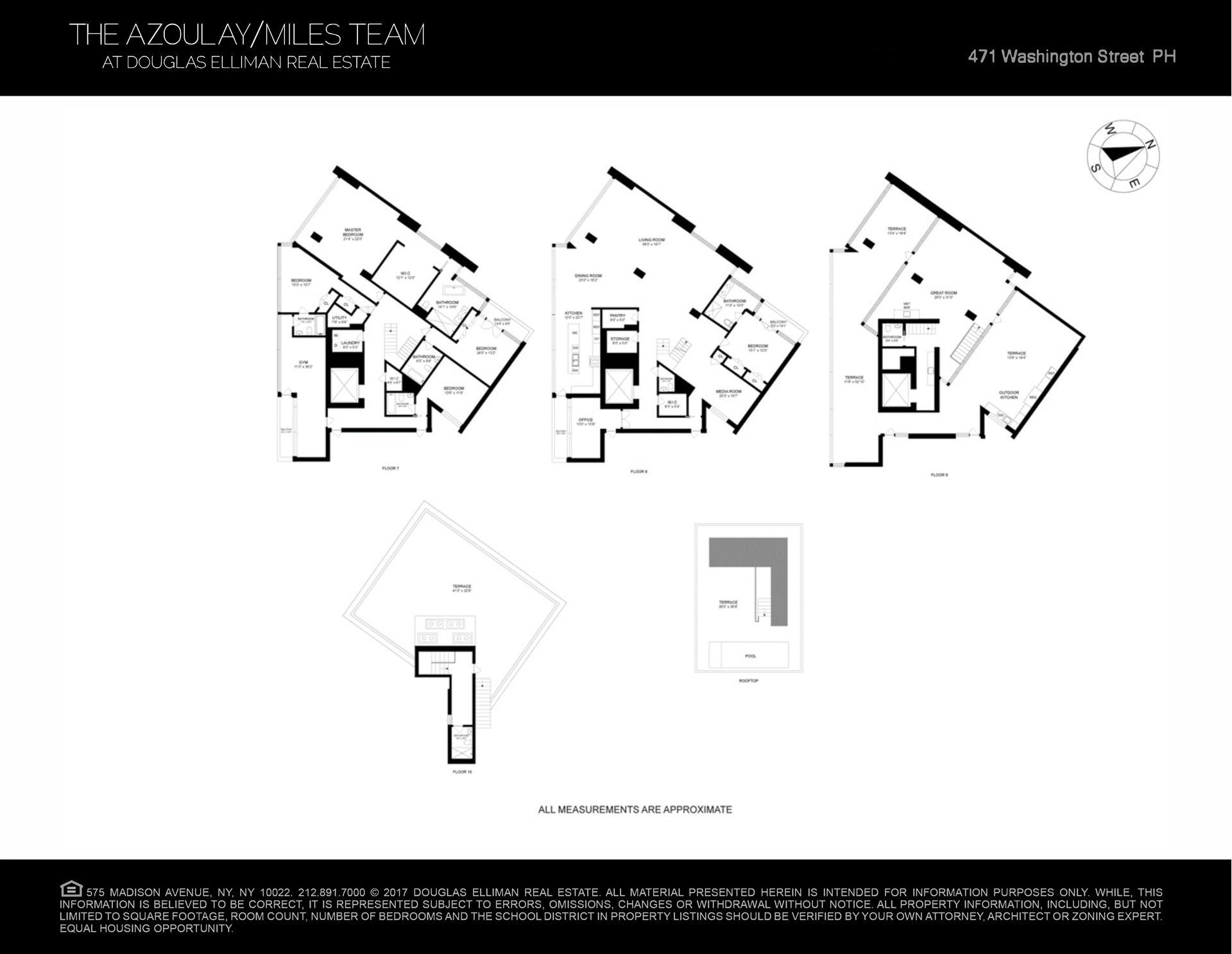 Floor plan of 471 Washington St, PH/7THFLR - TriBeCa, New York
