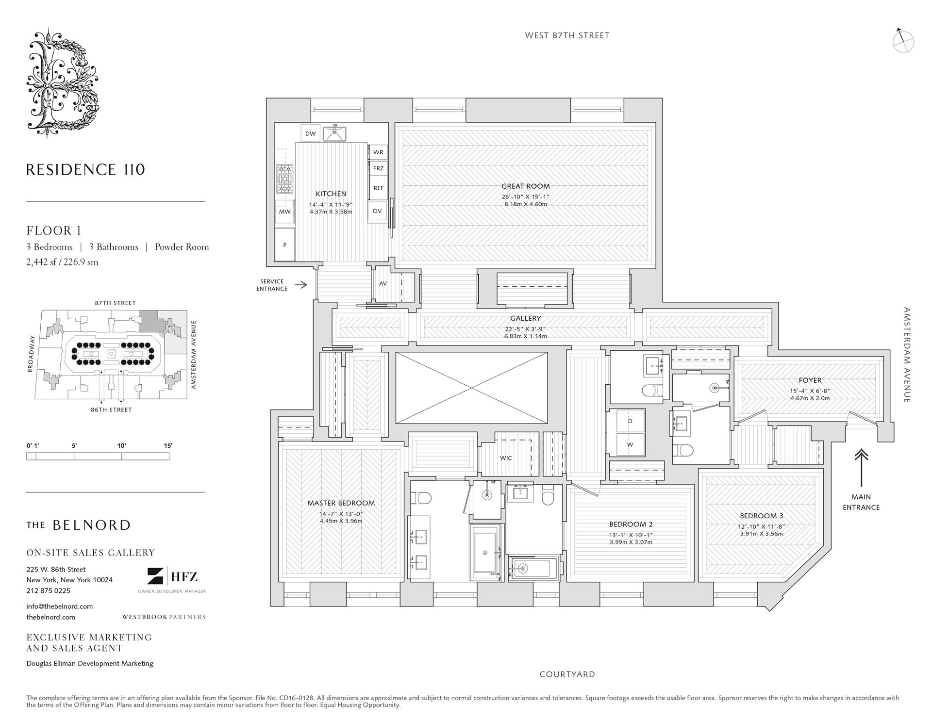 Floor plan of The Belnord, 225 West 86th St, 110 - Upper West Side, New York