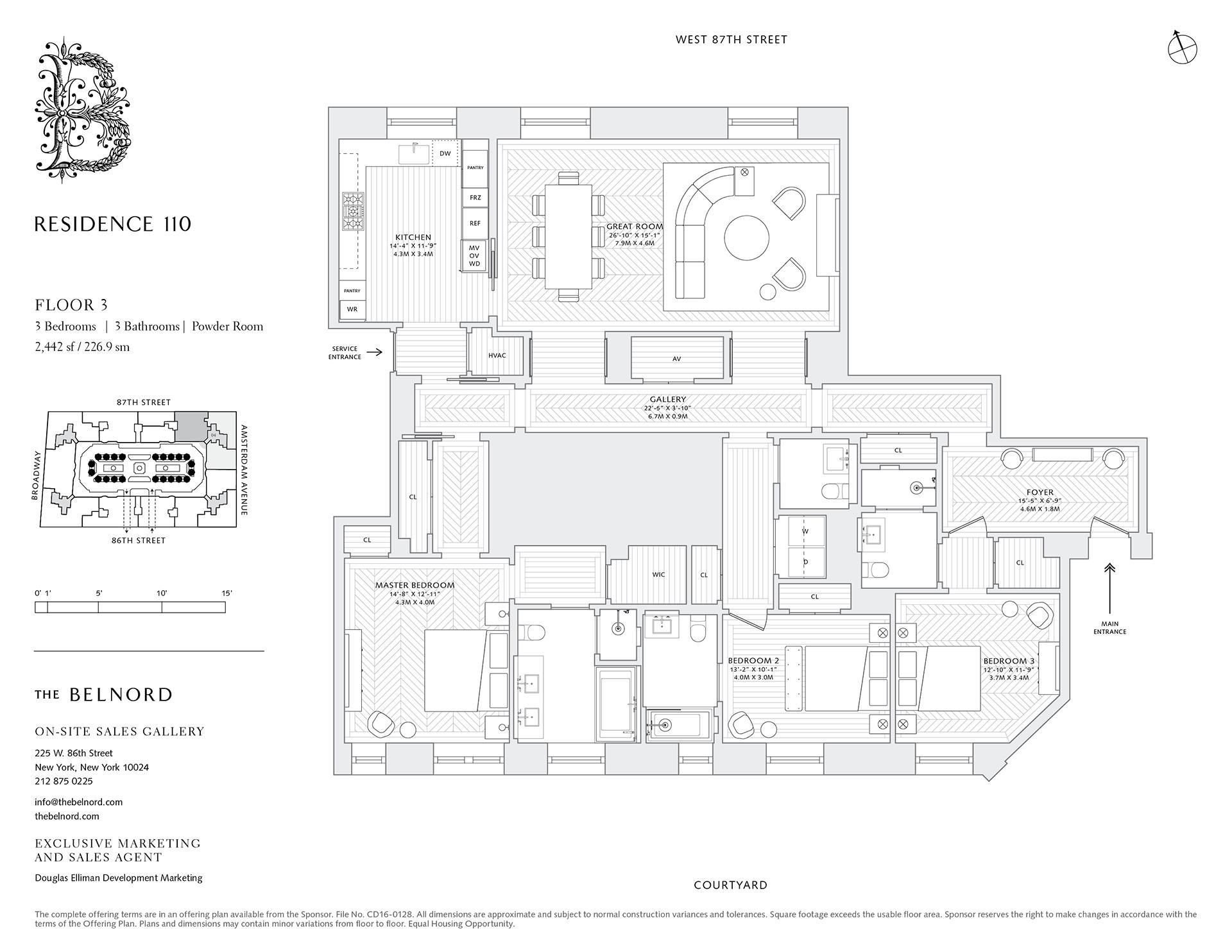 Floor plan of The Belnord, 225 West 86th Street, 110 - Upper West Side, New York