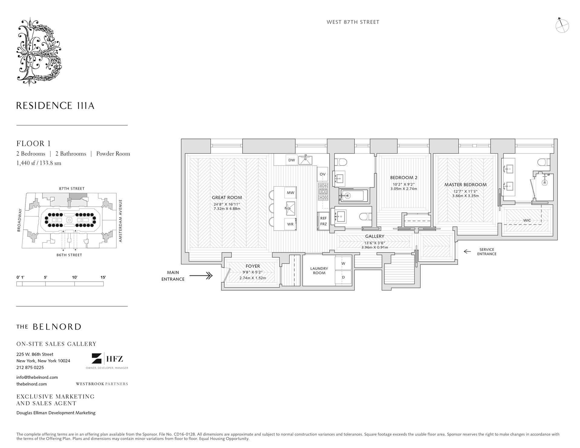 Floor plan of The Belnord, 225 West 86th St, 111A - Upper West Side, New York