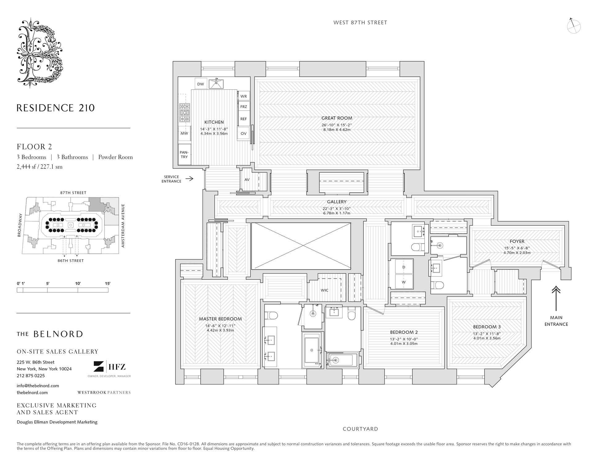Floor plan of The Belnord, 225 West 86th St, 210 - Upper West Side, New York