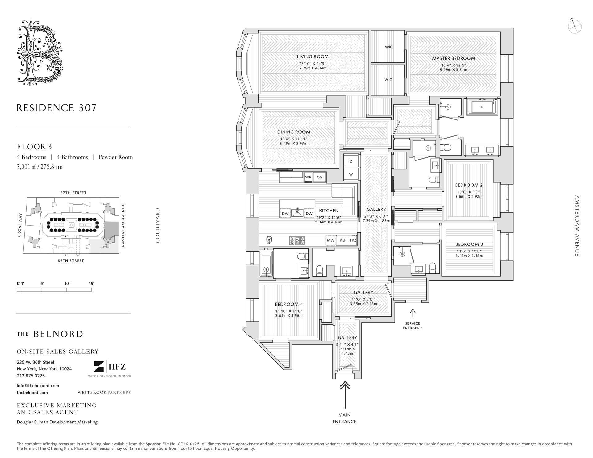 Floor plan of The Belnord, 225 West 86th St, 307 - Upper West Side, New York