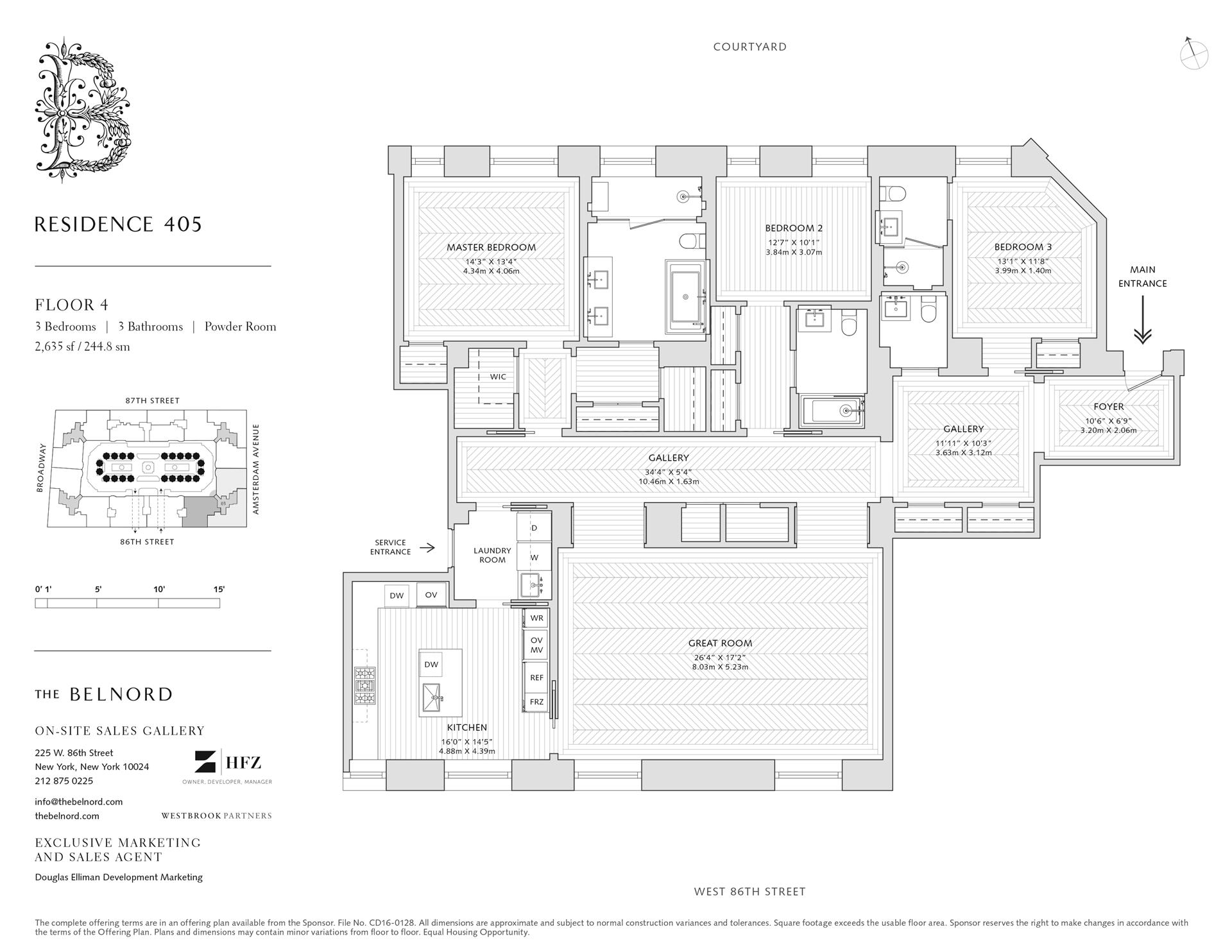 Floor plan of The Belnord, 225 West 86th St, 405 - Upper West Side, New York