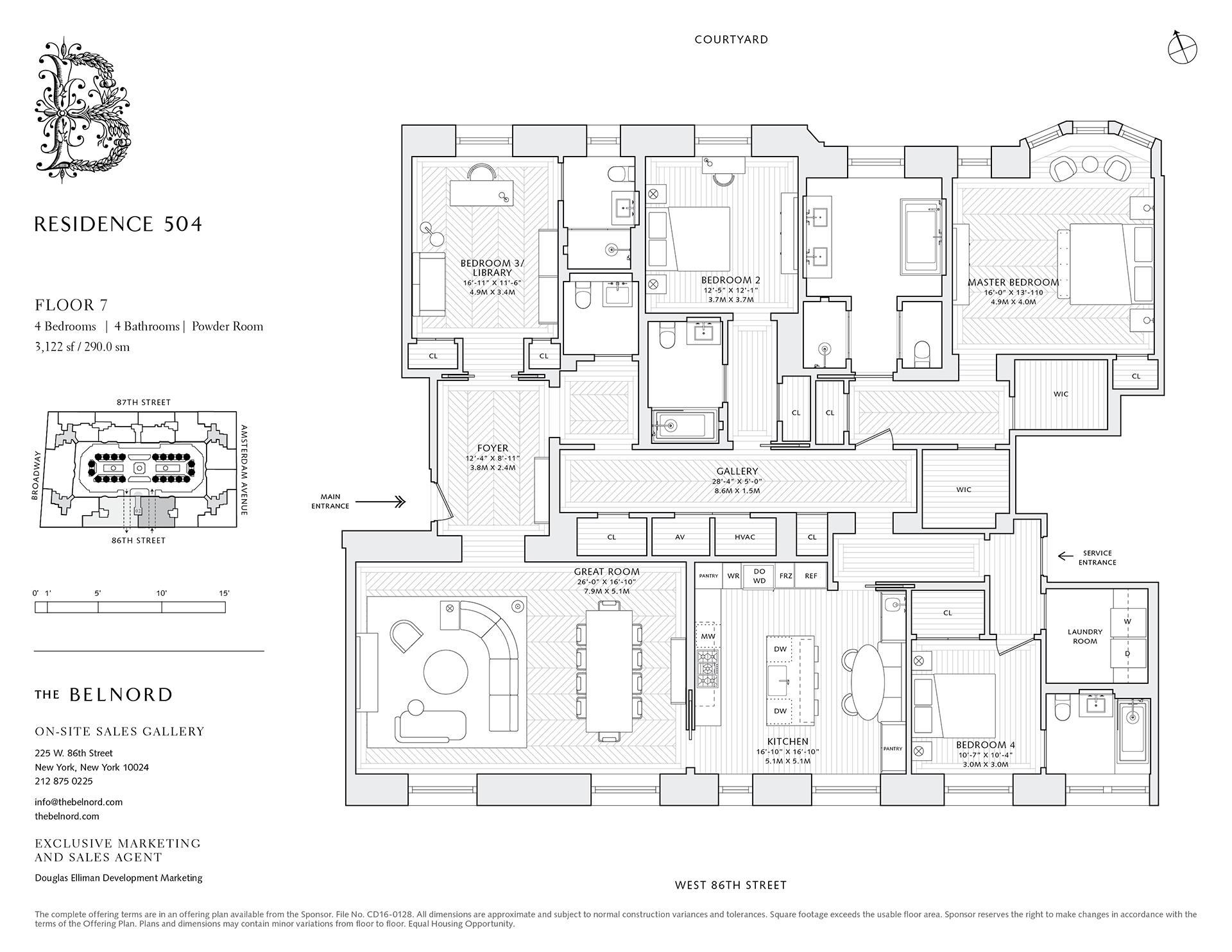 Floor plan of The Belnord, 225 West 86th Street, 504 - Upper West Side, New York