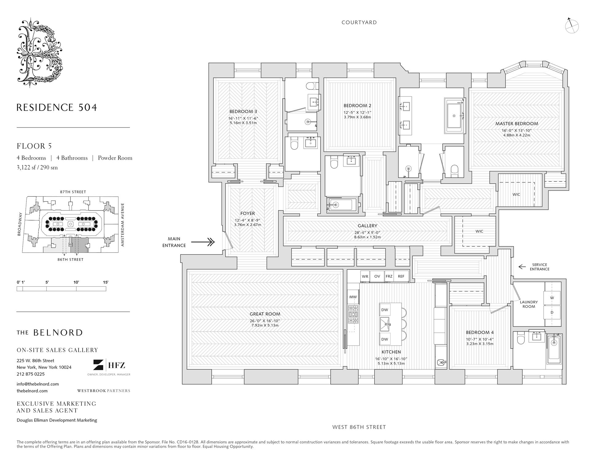 Floor plan of The Belnord, 225 West 86th St, 504 - Upper West Side, New York