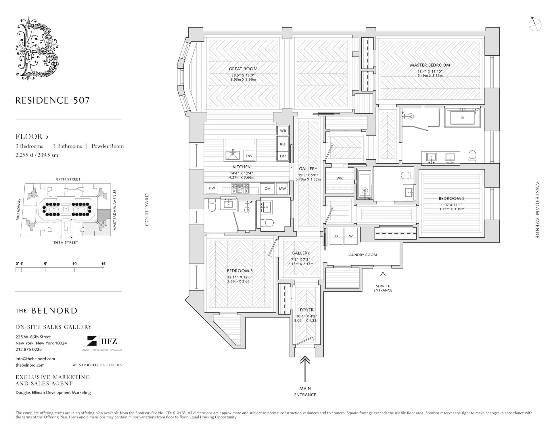 Floor plan of The Belnord, 225 West 86th St, 507 - Upper West Side, New York