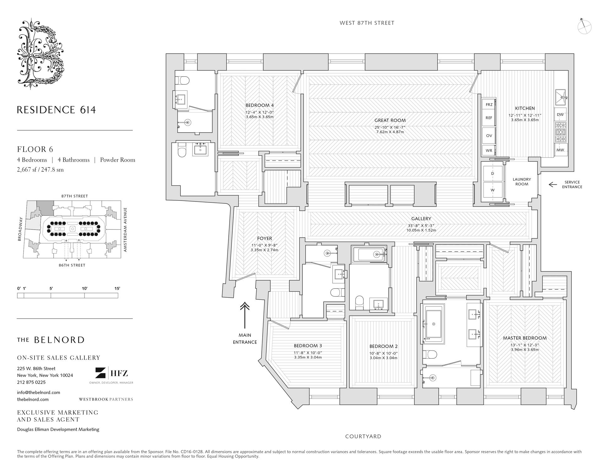 Floor plan of The Belnord, 225 West 86th St, 614 - Upper West Side, New York