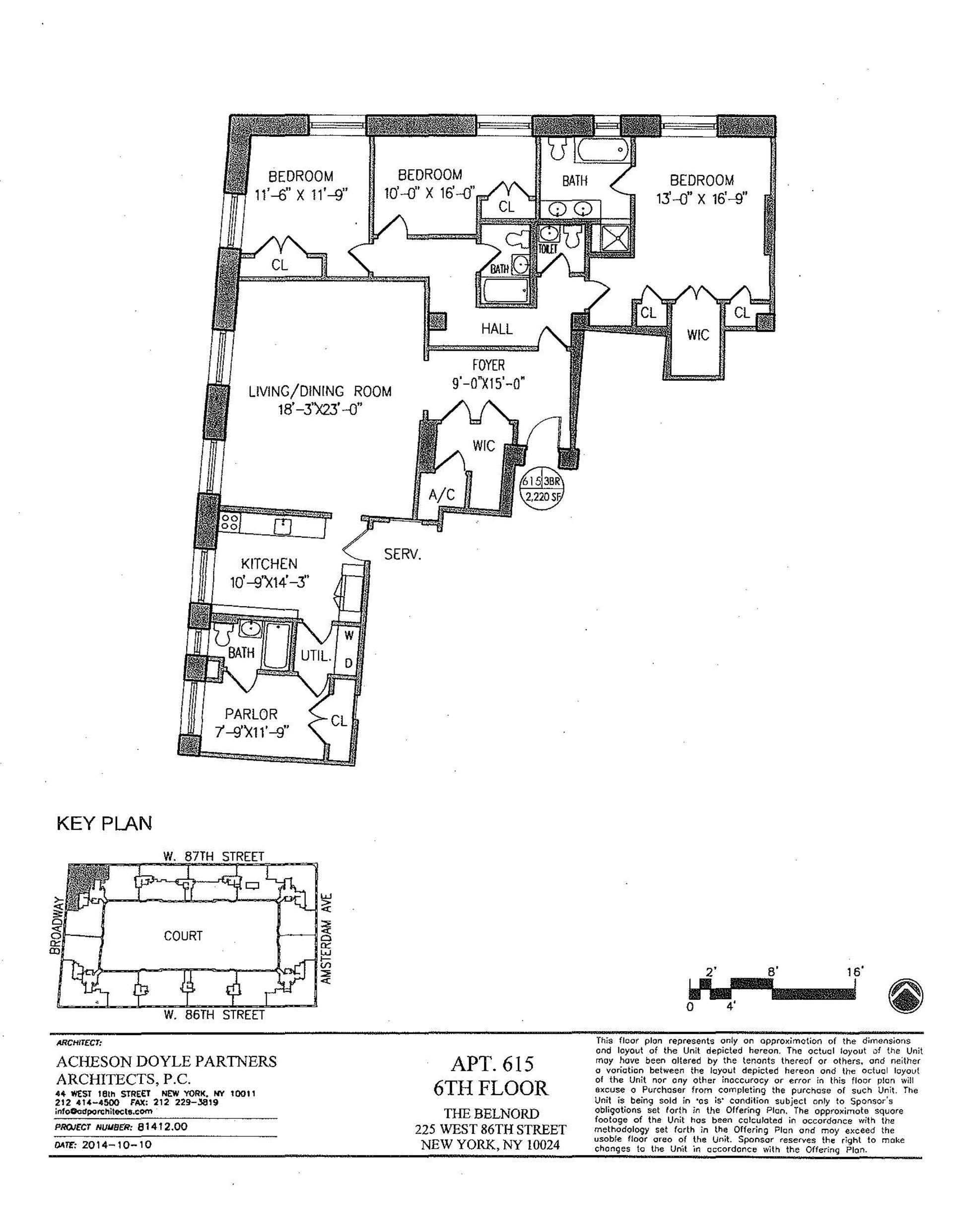 Floor plan of The Belnord, 225 West 86th Street, 615 - Upper West Side, New York