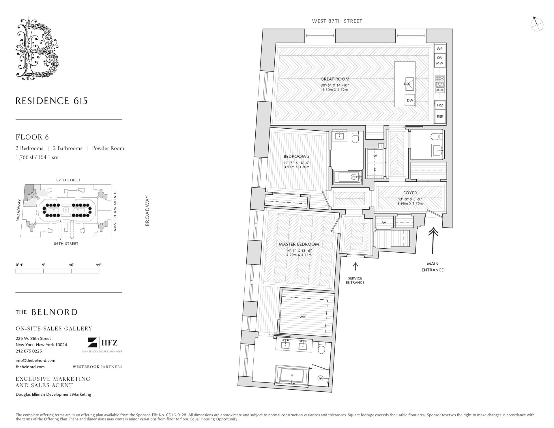 Floor plan of The Belnord, 225 West 86th St, 615 - Upper West Side, New York