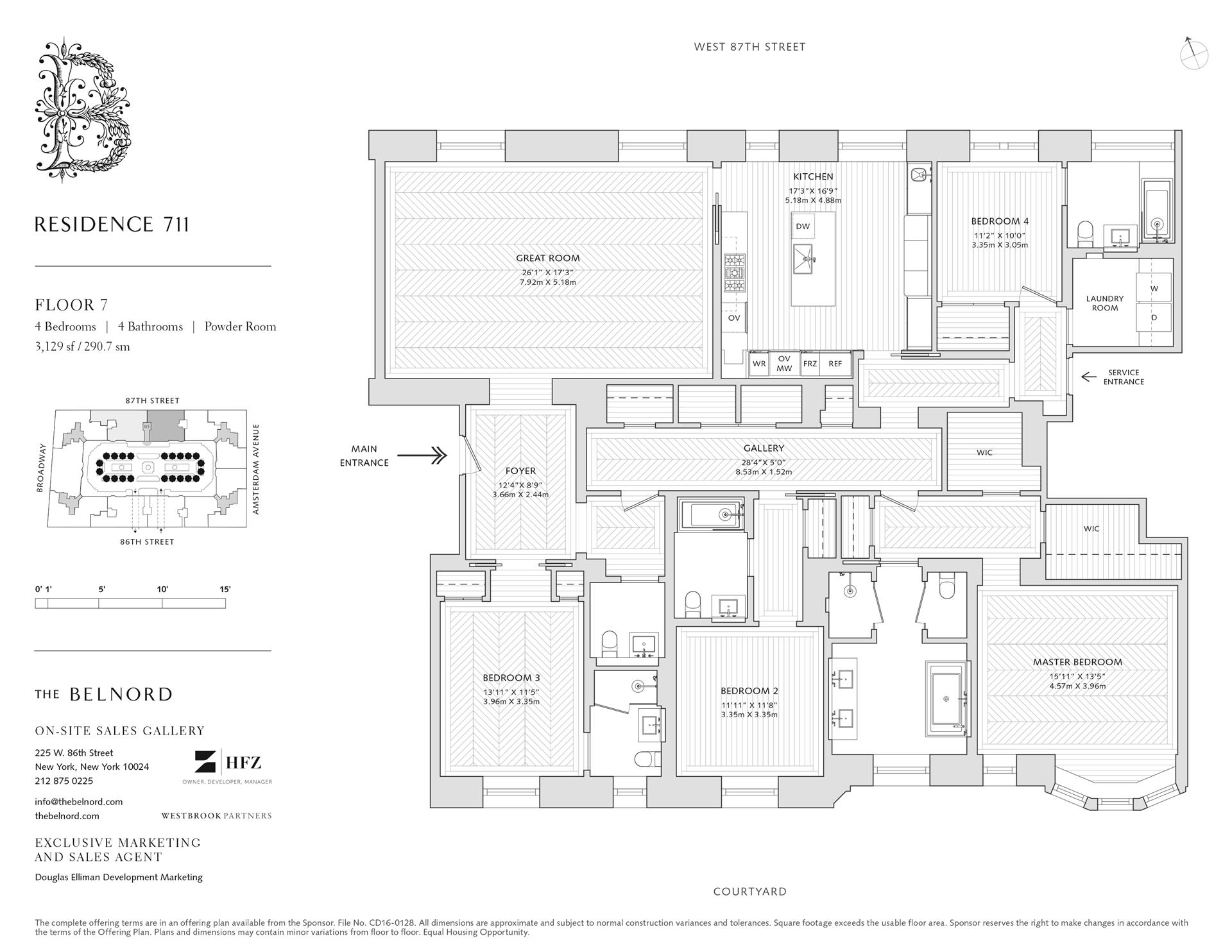 Floor plan of The Belnord, 225 West 86th St, 711 - Upper West Side, New York