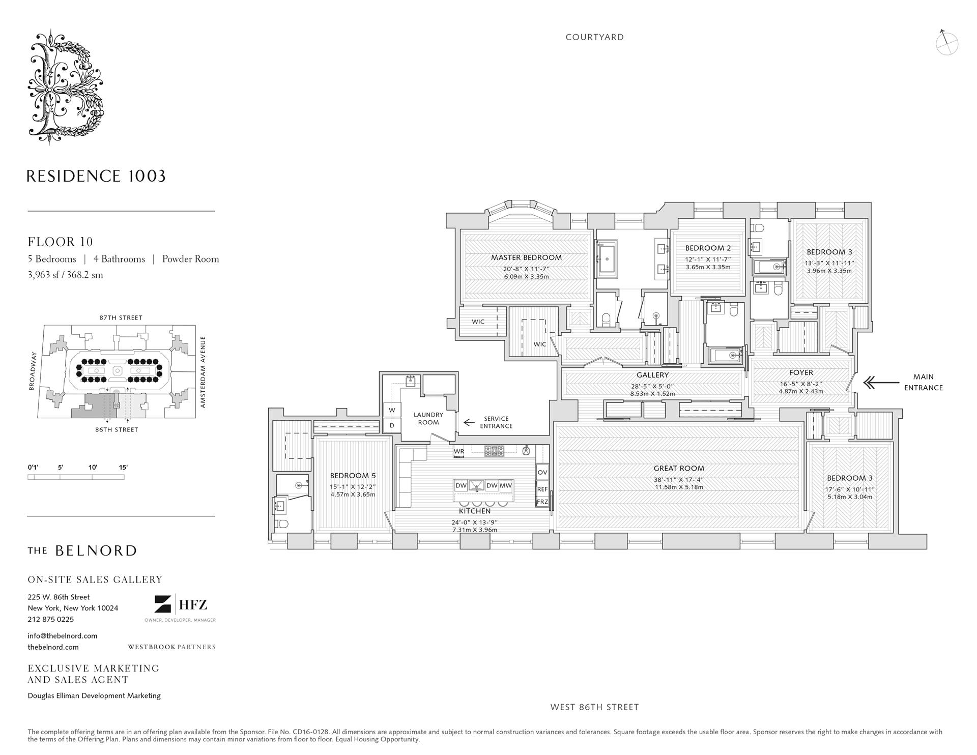 Floor plan of The Belnord, 225 West 86th St, 1003 - Upper West Side, New York
