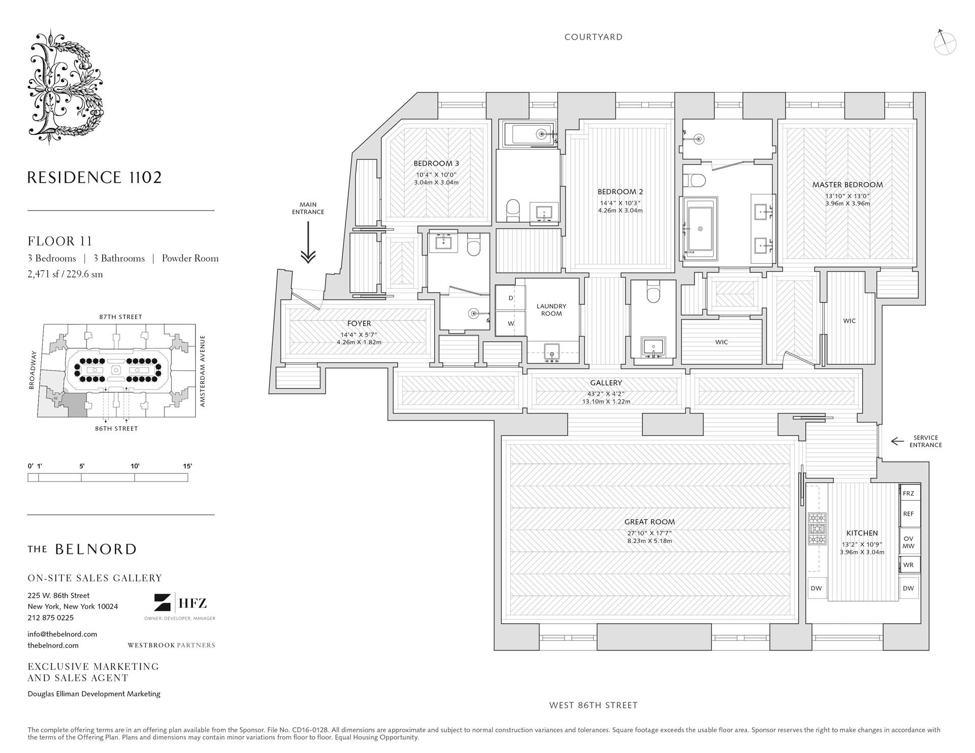 Floor plan of The Belnord, 225 West 86th St, 1102 - Upper West Side, New York