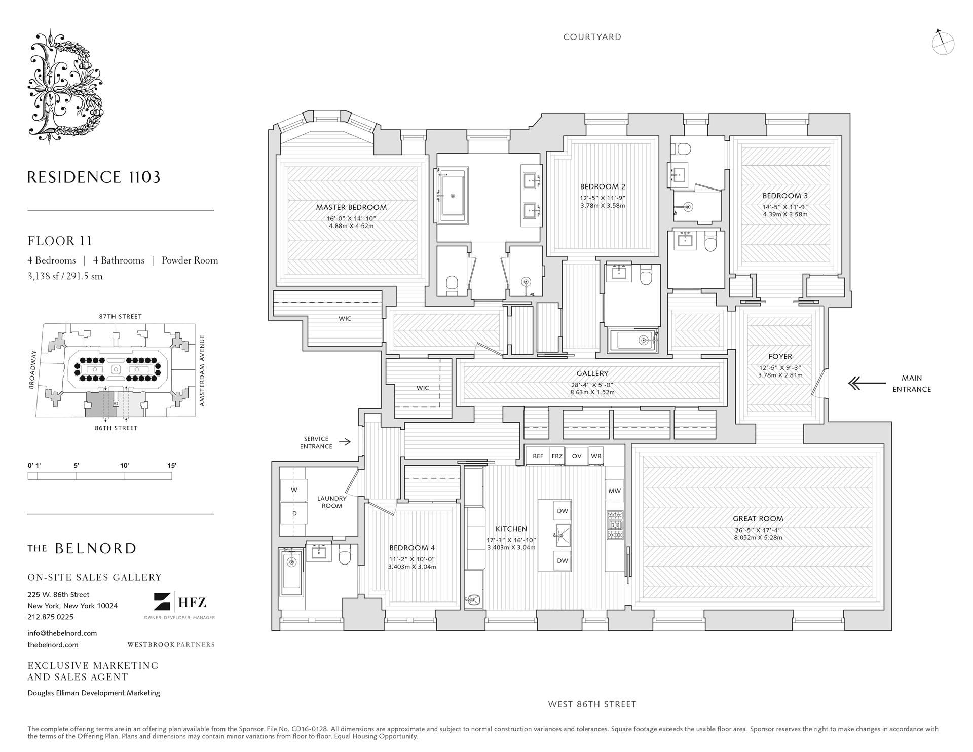 Floor plan of The Belnord, 225 West 86th St, 1103 - Upper West Side, New York